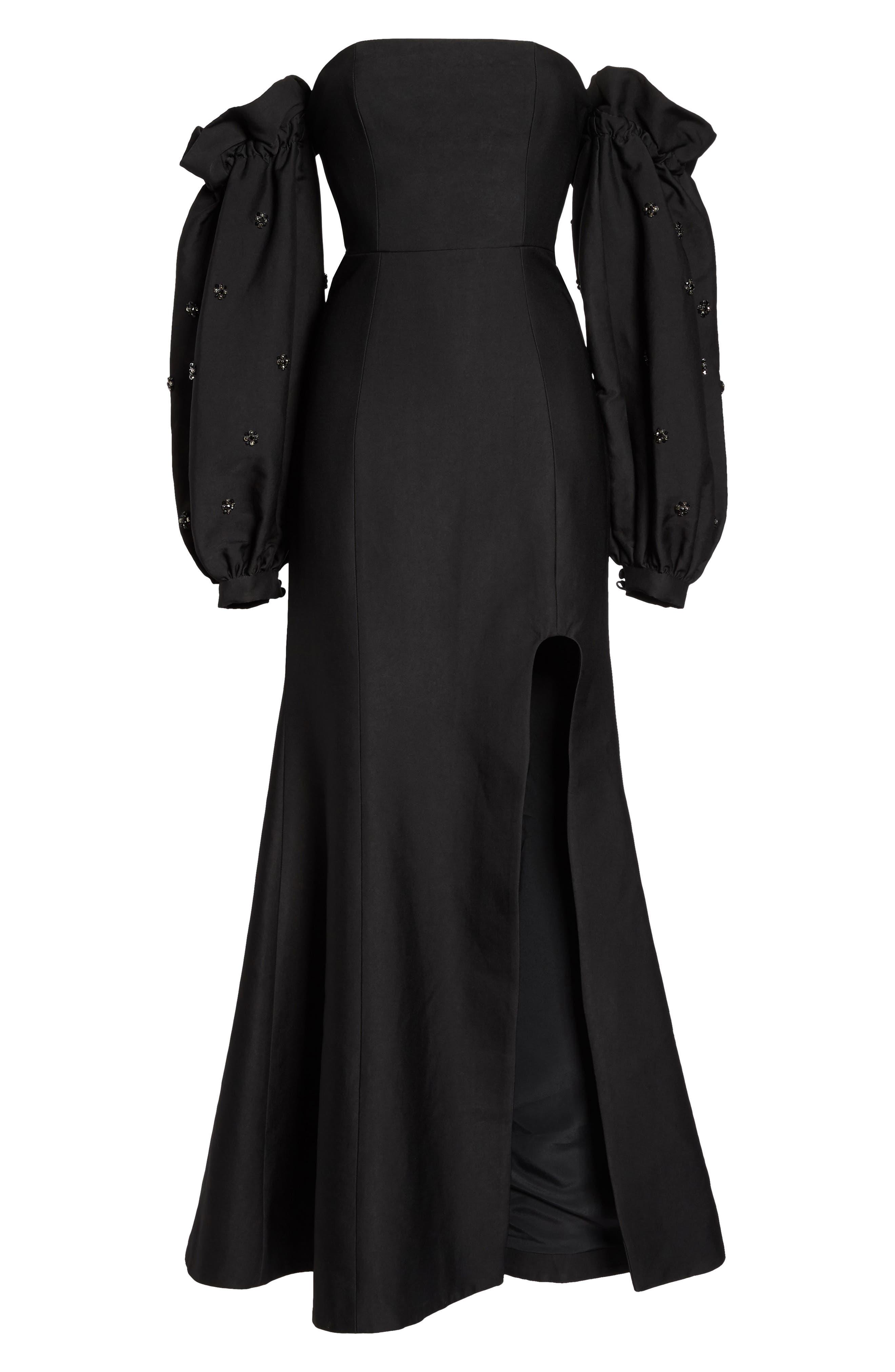 Assemble Embellished Off the Shoulder Gown,                             Alternate thumbnail 6, color,