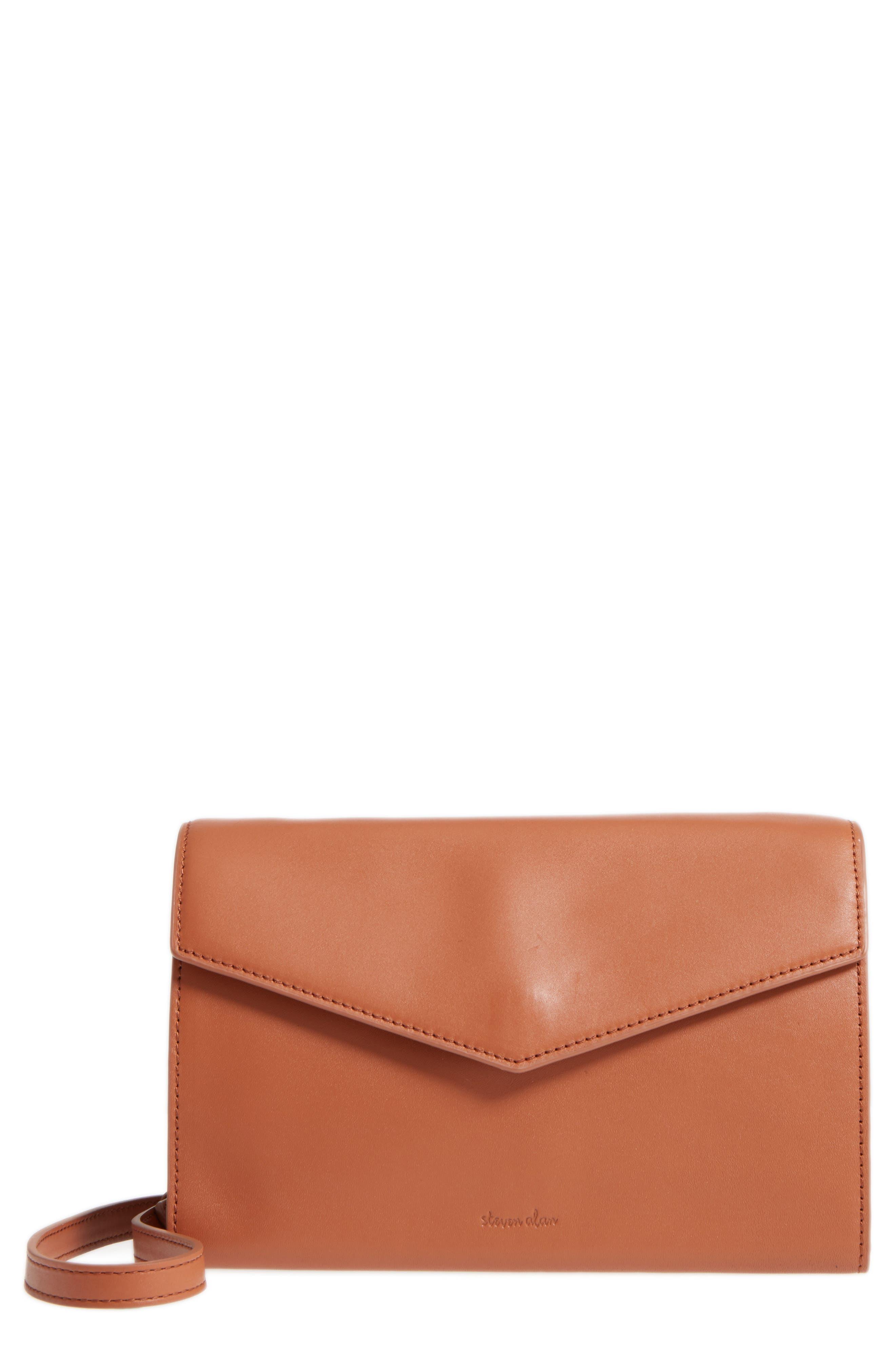 Easton Leather Envelope Crossbody Bag,                             Main thumbnail 1, color,                             200