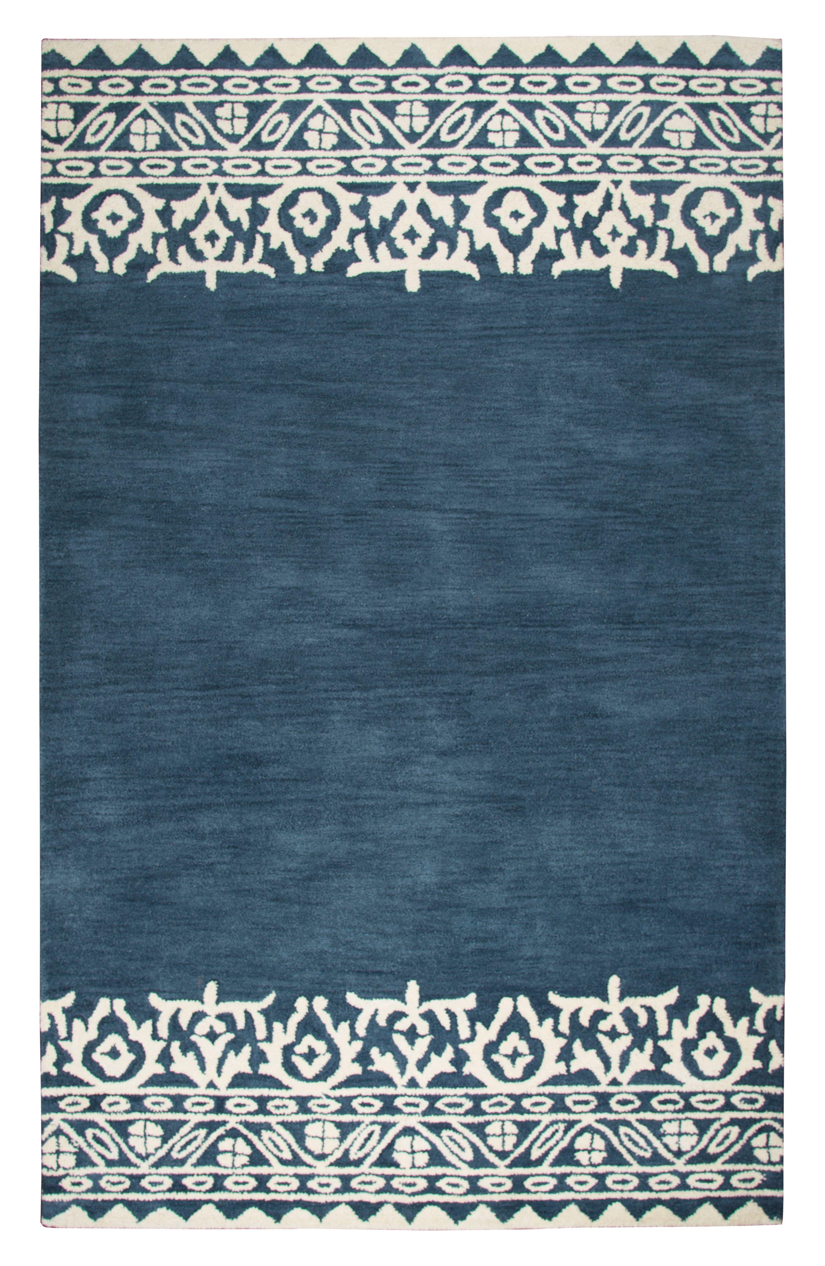 Framed Medallion Hand Tufted Wool Area Rug,                             Main thumbnail 1, color,                             400