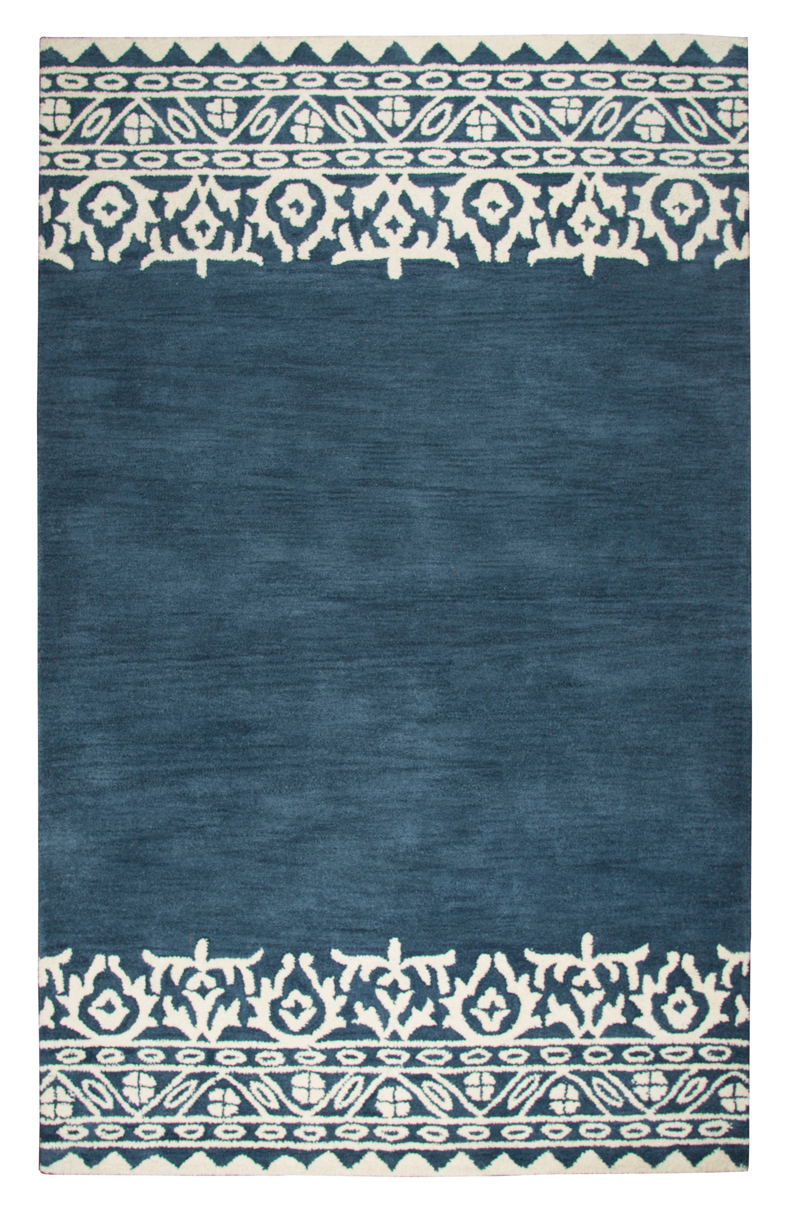 Framed Medallion Hand Tufted Wool Area Rug,                         Main,                         color, 400