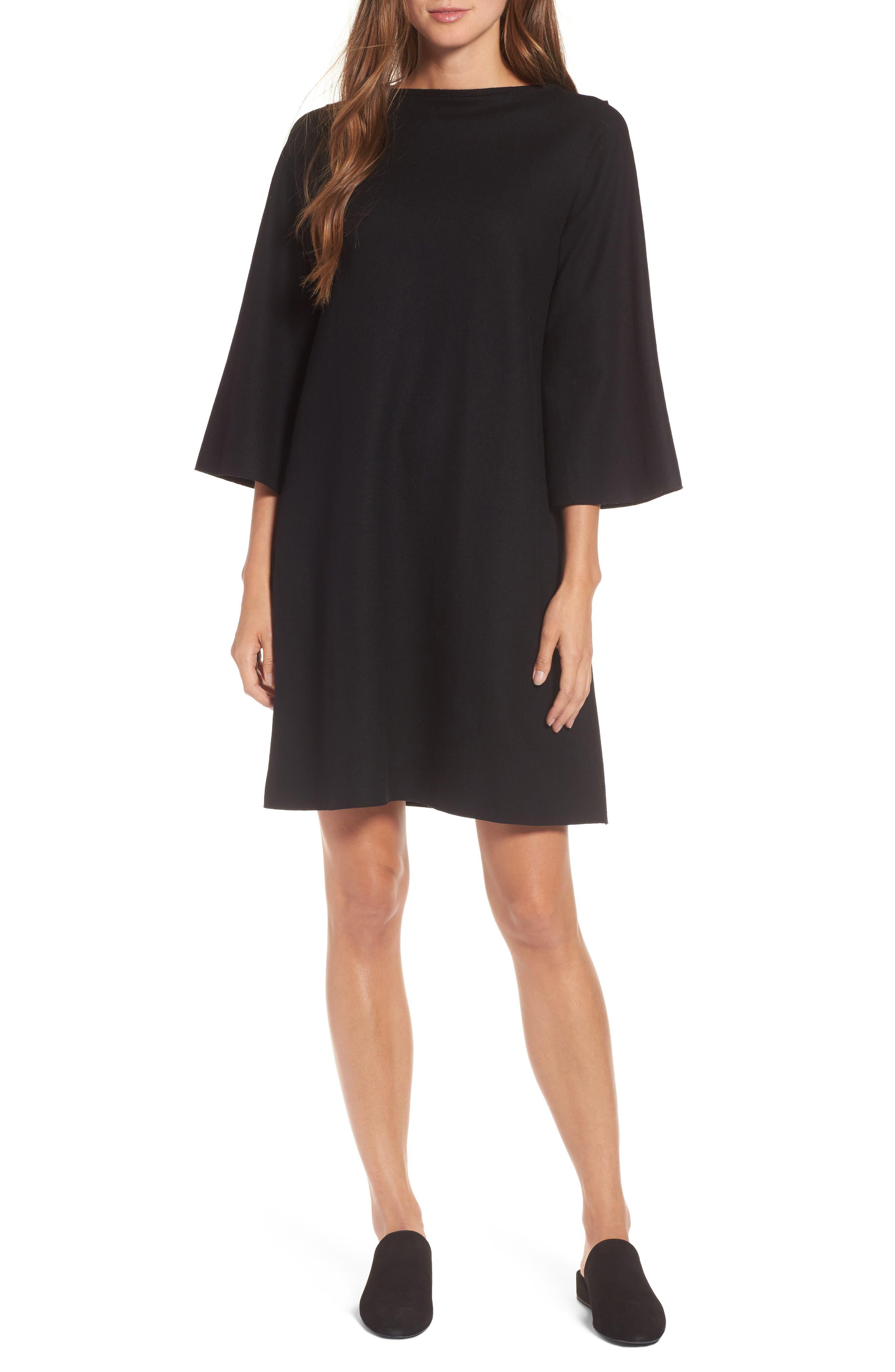 Bell Sleeve Dress,                             Main thumbnail 1, color,                             001