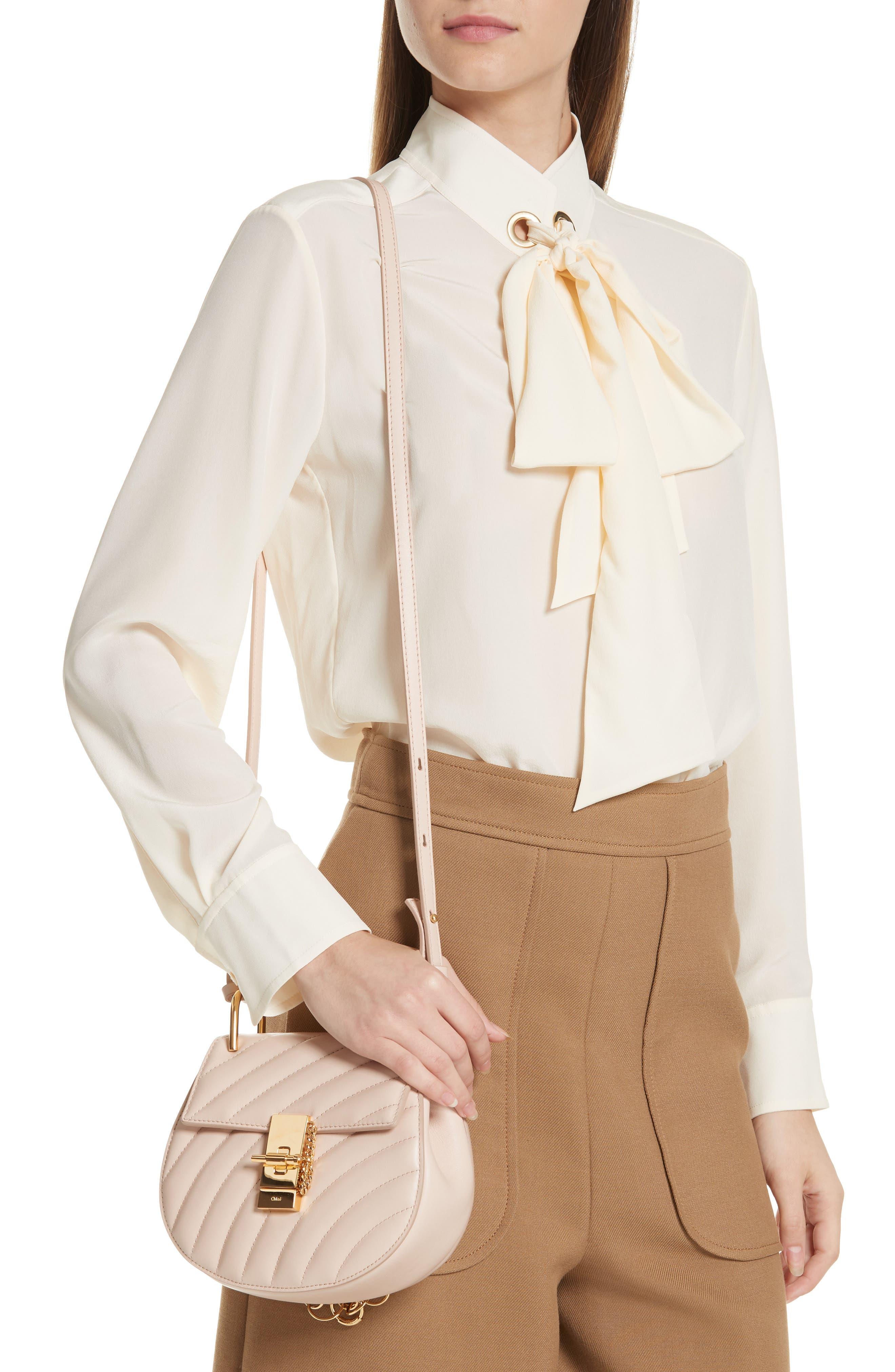 CHLOÉ,                             Mini Drew Bijoux Leather Shoulder Bag,                             Alternate thumbnail 2, color,                             680