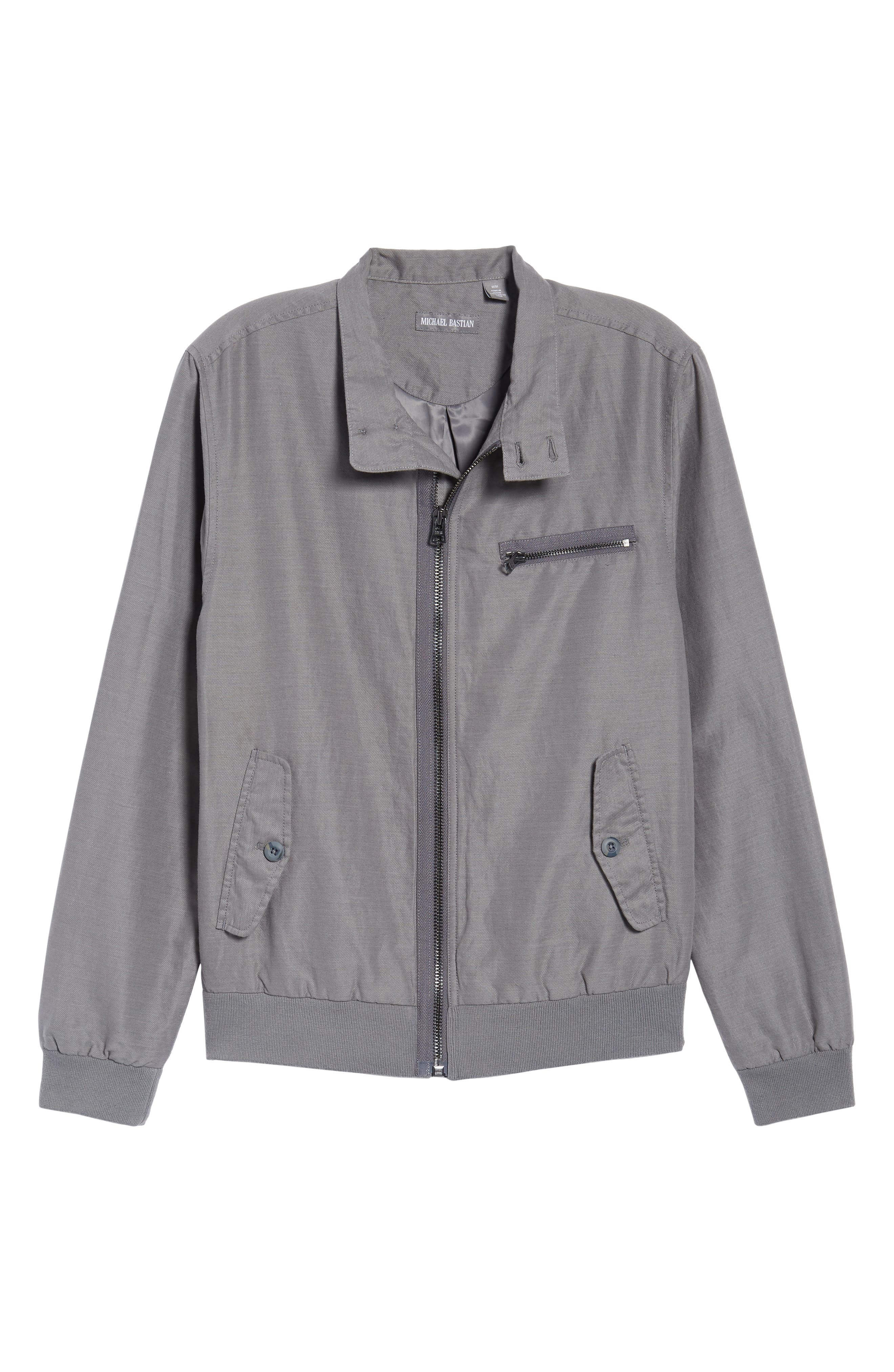 Harrington Linen & Cotton Jacket,                             Alternate thumbnail 5, color,                             SHADE