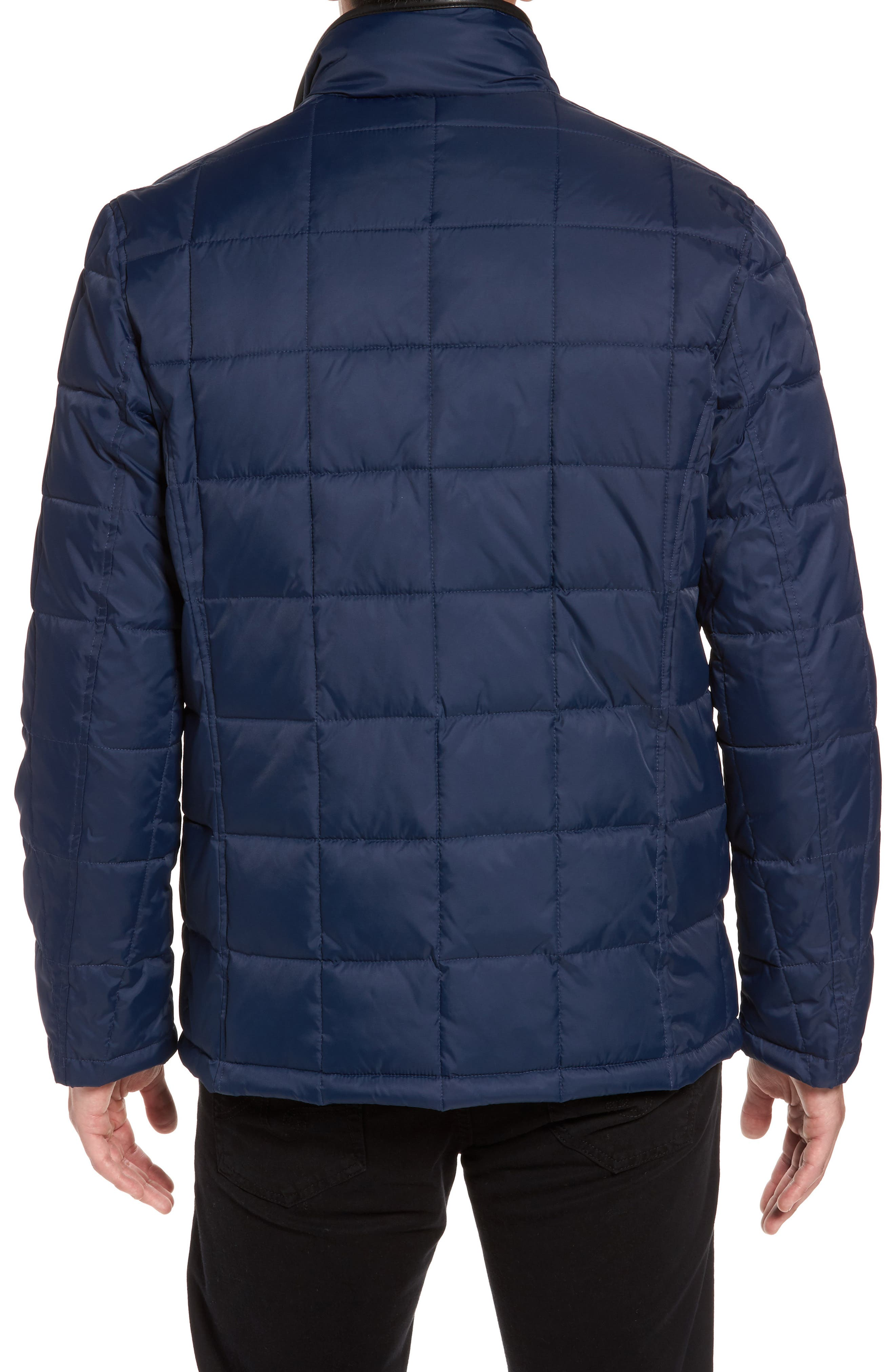 Box Quilted Jacket,                             Alternate thumbnail 2, color,                             NAVY