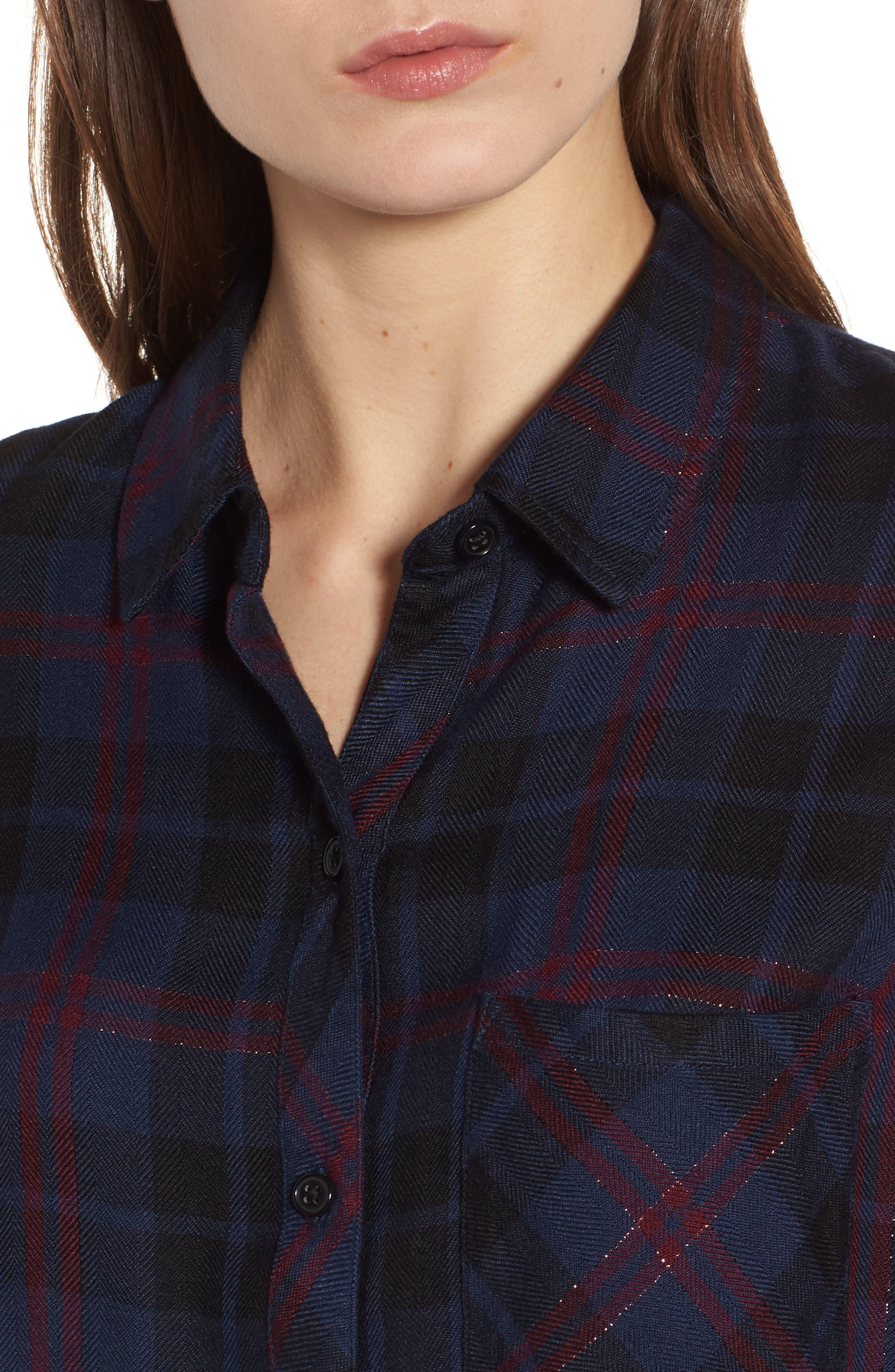 Hunter Plaid Shirt,                             Alternate thumbnail 486, color,