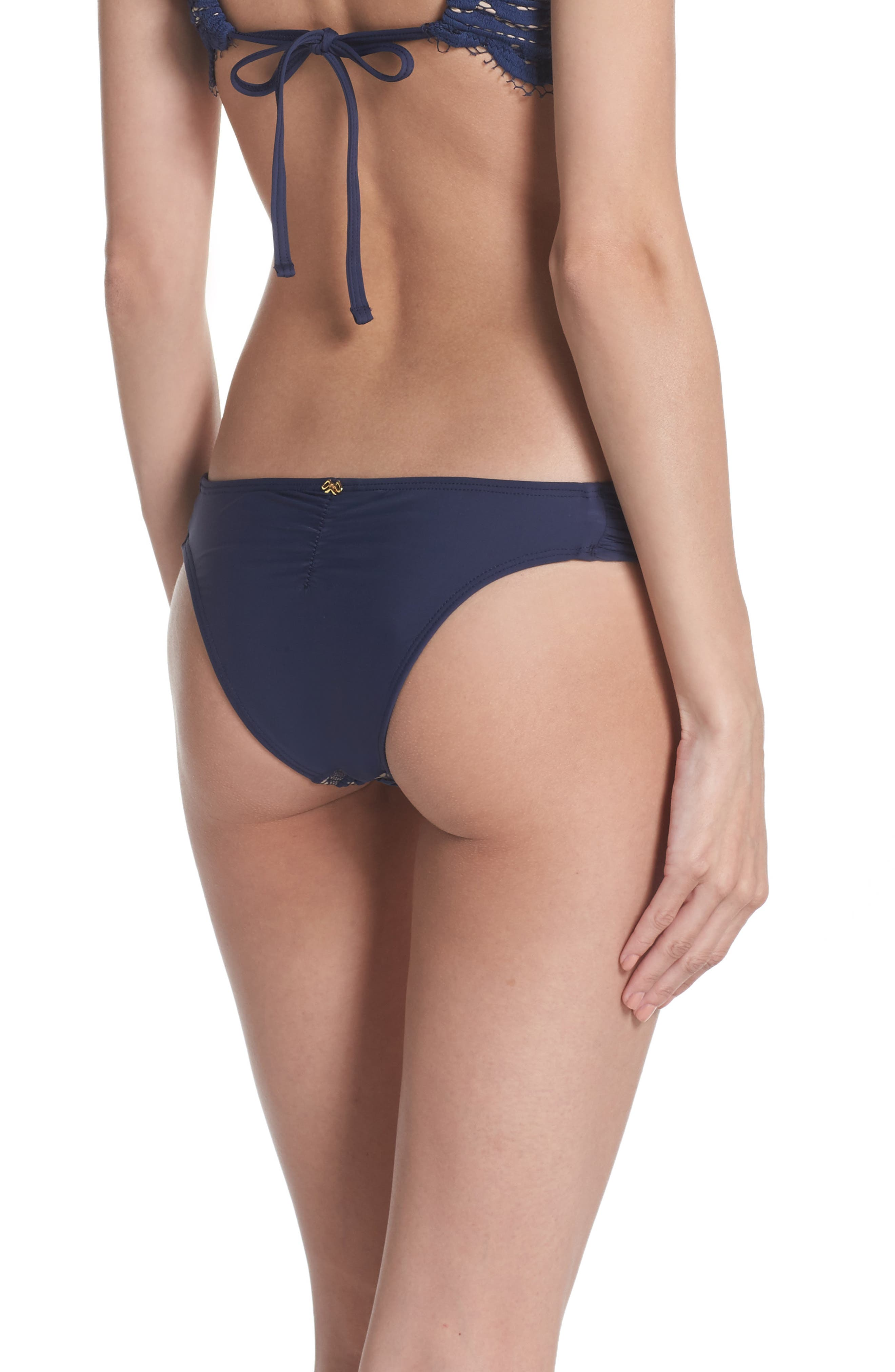 Lace Fanned Teeny Bikini Bottoms,                             Alternate thumbnail 2, color,                             413
