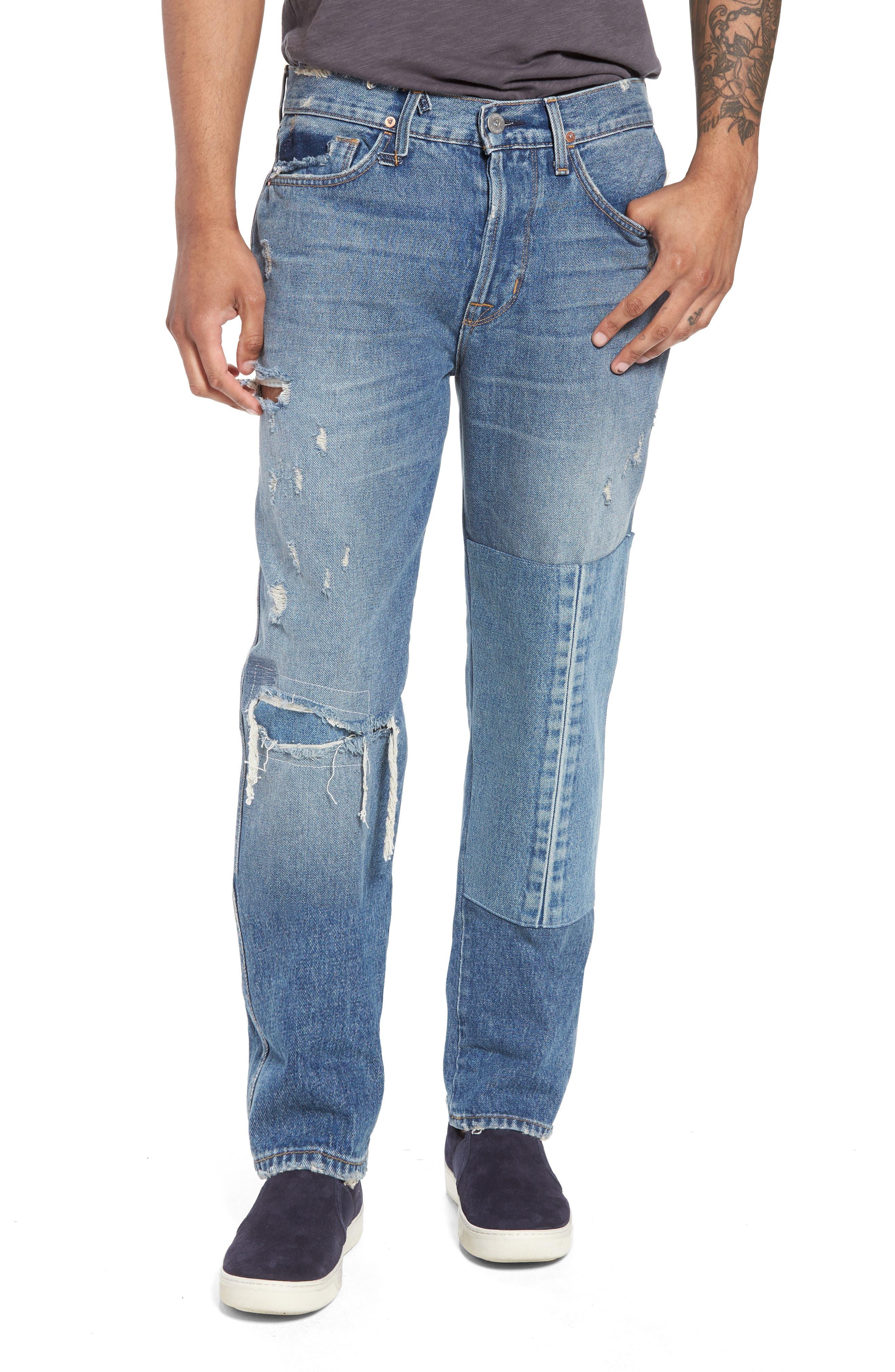Dixon Straight Leg Jeans,                             Main thumbnail 1, color,                             IRON HEAD