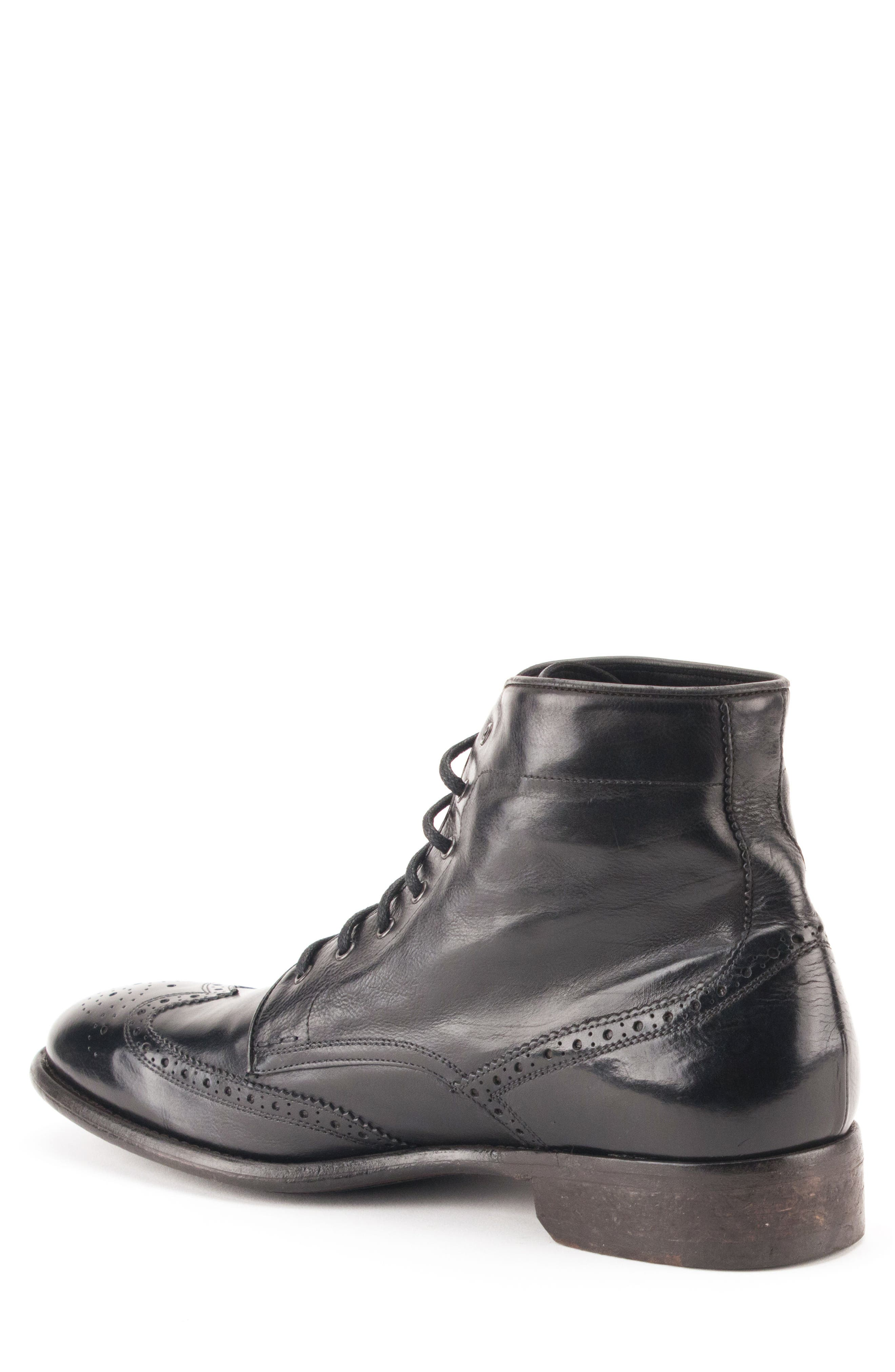 Maxfield Wingtip Boot,                             Alternate thumbnail 2, color,                             BLACK LEATHER