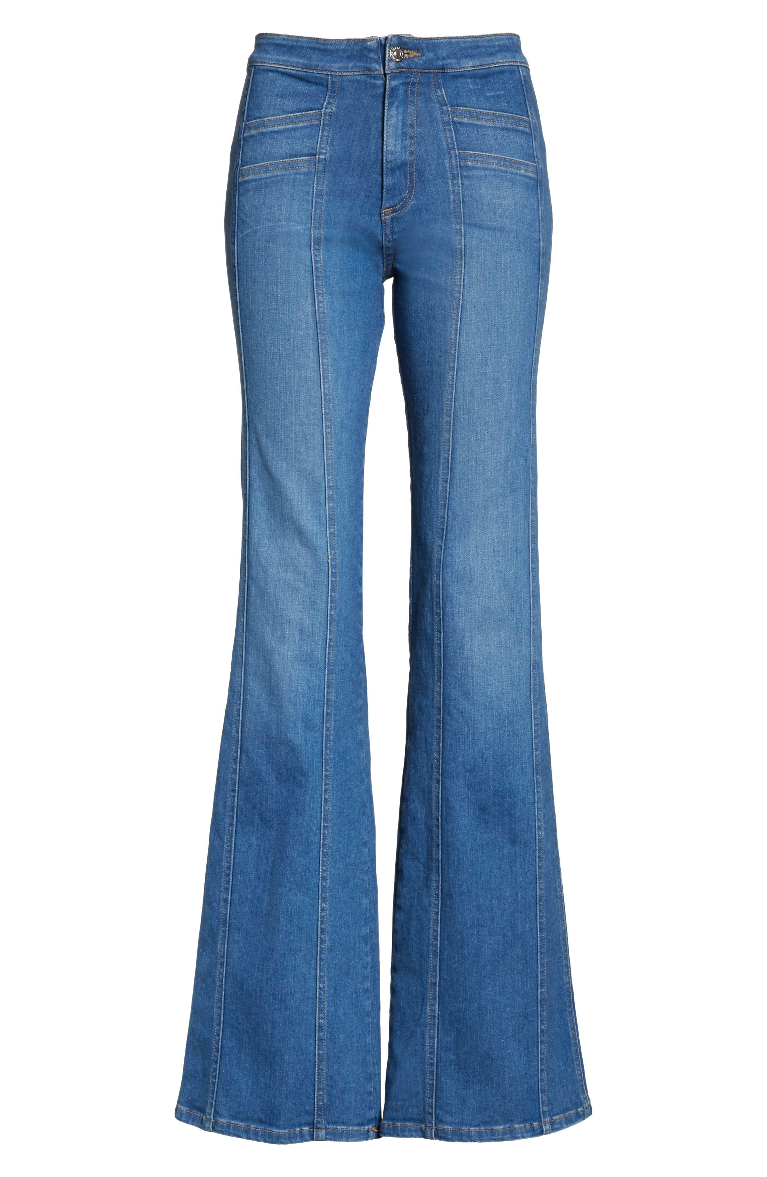 Farrah Wide Leg Jeans,                             Alternate thumbnail 6, color,                             400