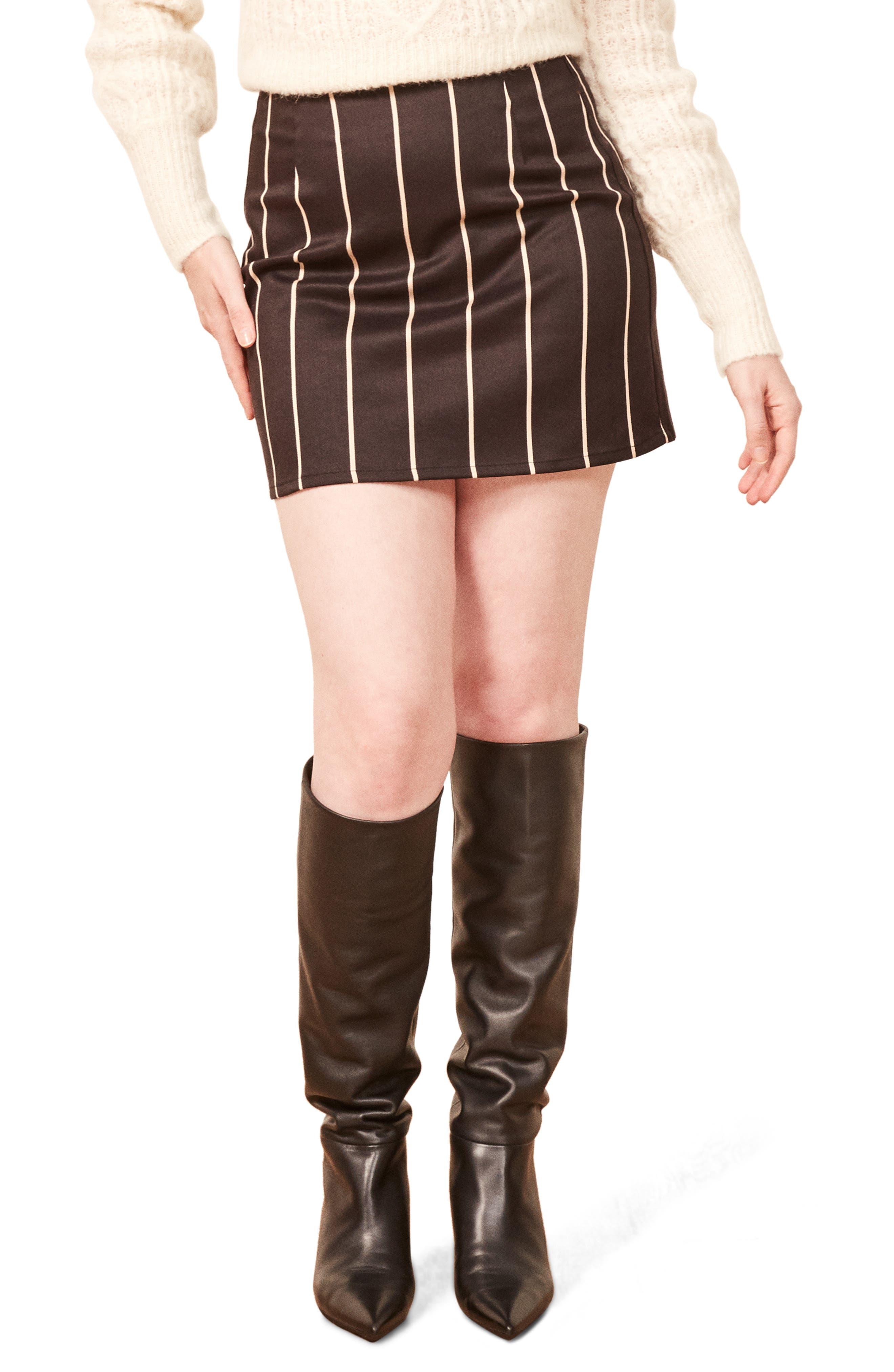 Reformation Jamie Miniskirt, Black