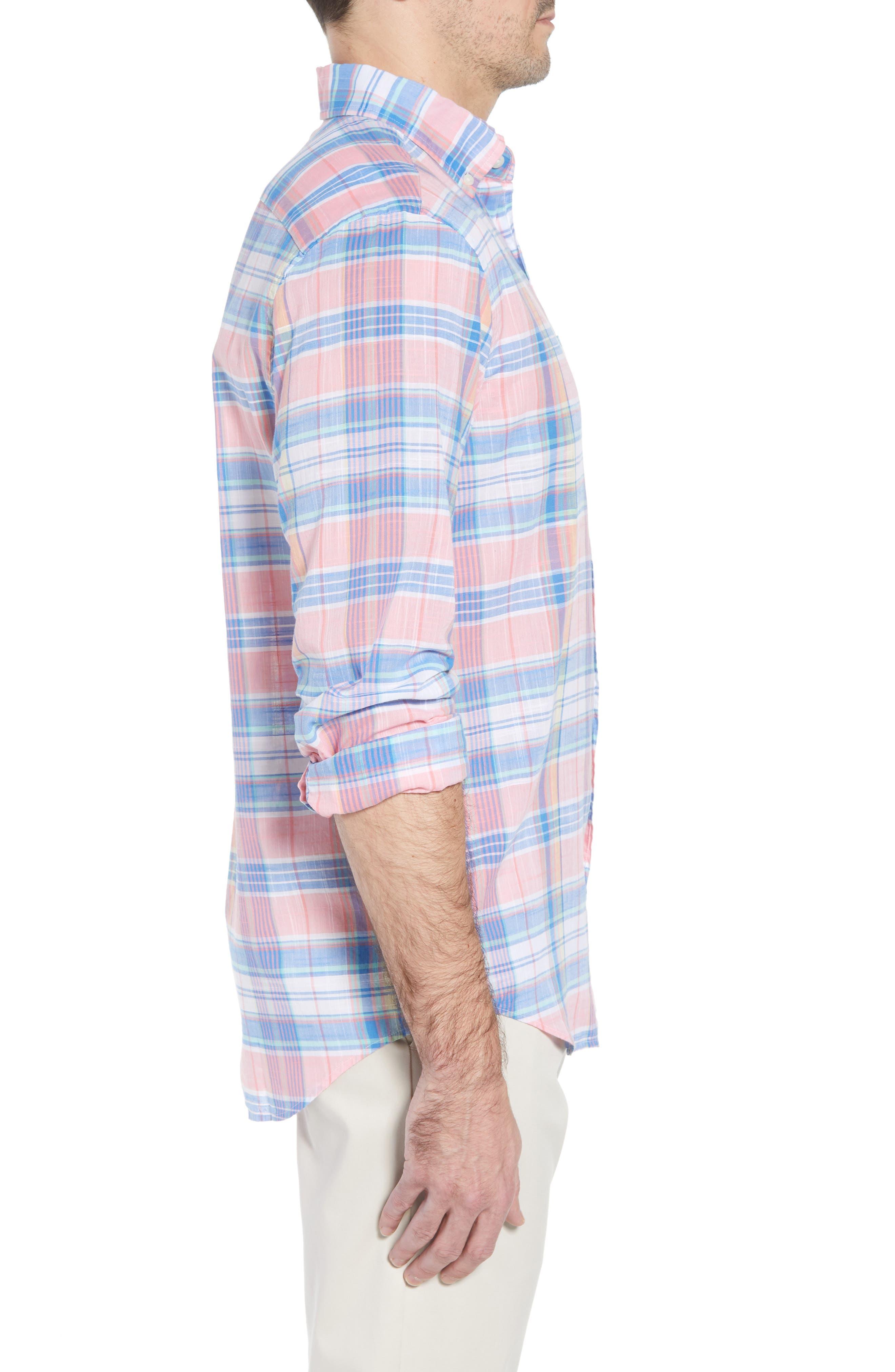 Smith Point Tucker Classic Fit Plaid Sport Shirt,                             Alternate thumbnail 6, color,