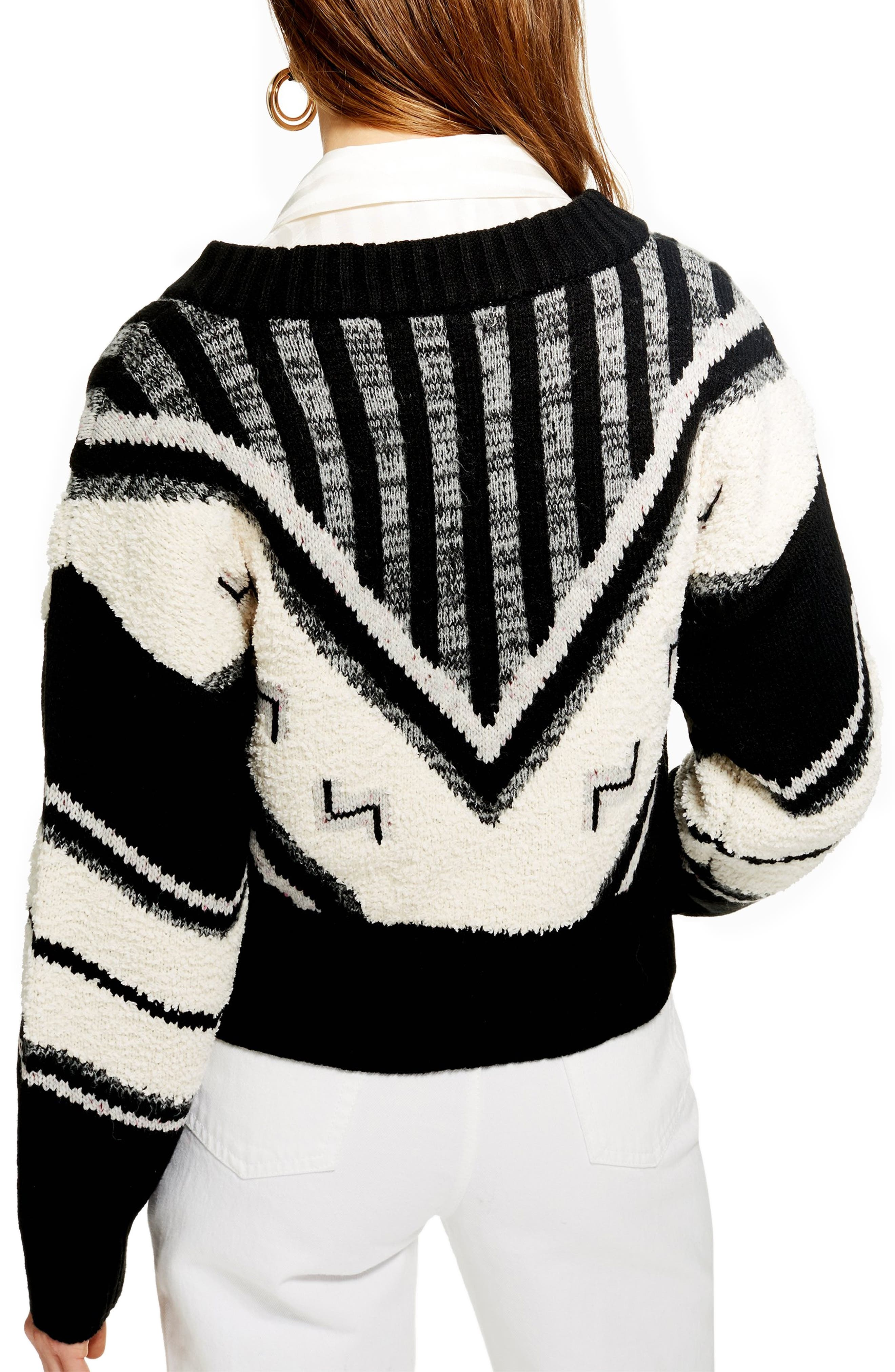 Aztec Rock 'n' Roll Sweater,                             Alternate thumbnail 2, color,                             BLACK MULTI