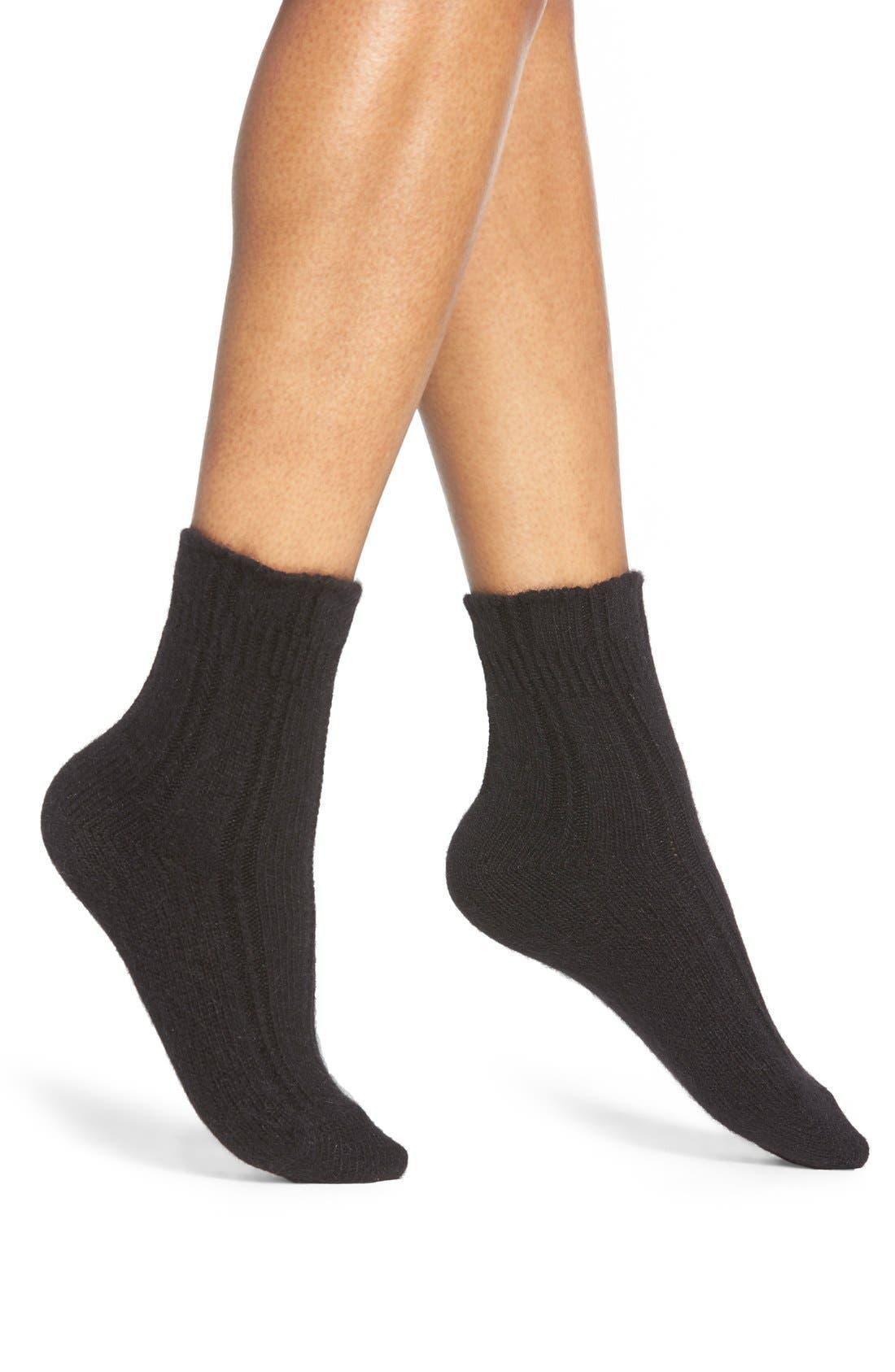 FALKE,                             Knit Bed Socks,                             Main thumbnail 1, color,                             008