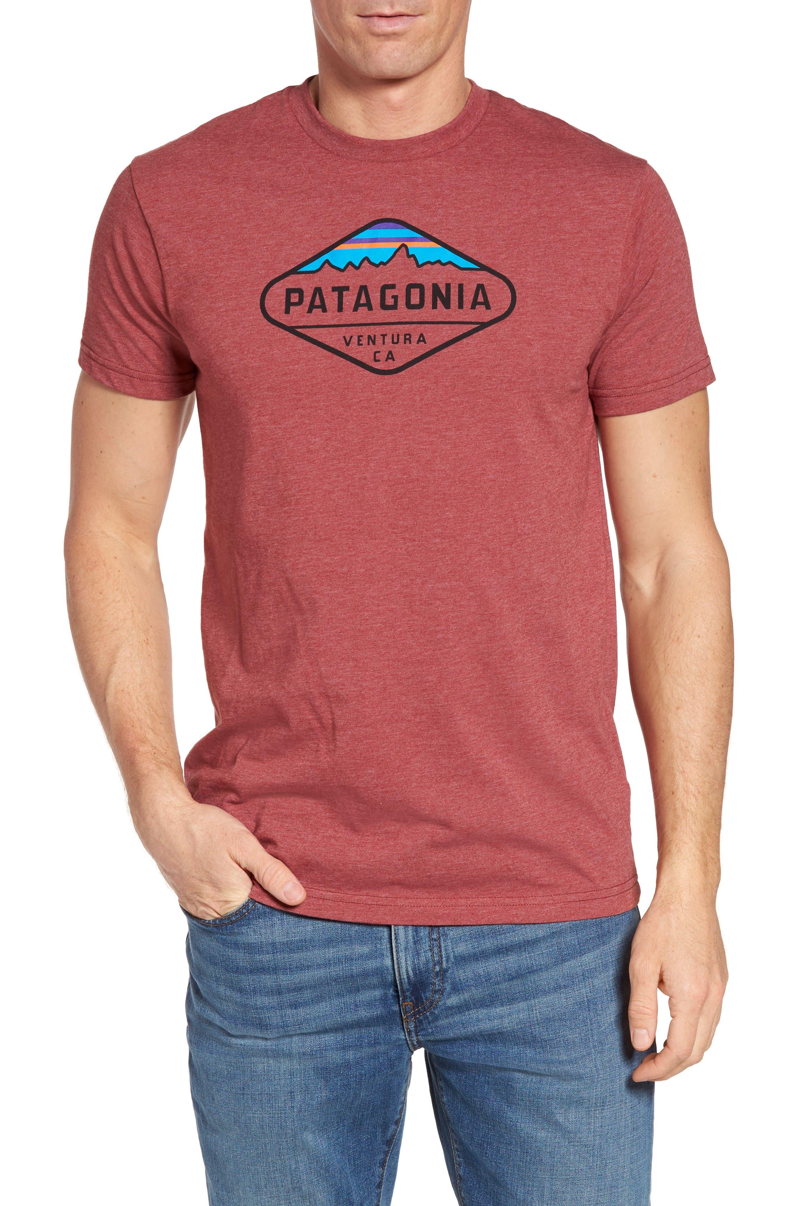 'Fitz Roy Crest' Slim Fit Organic Cotton Blend T-Shirt,                             Main thumbnail 8, color,