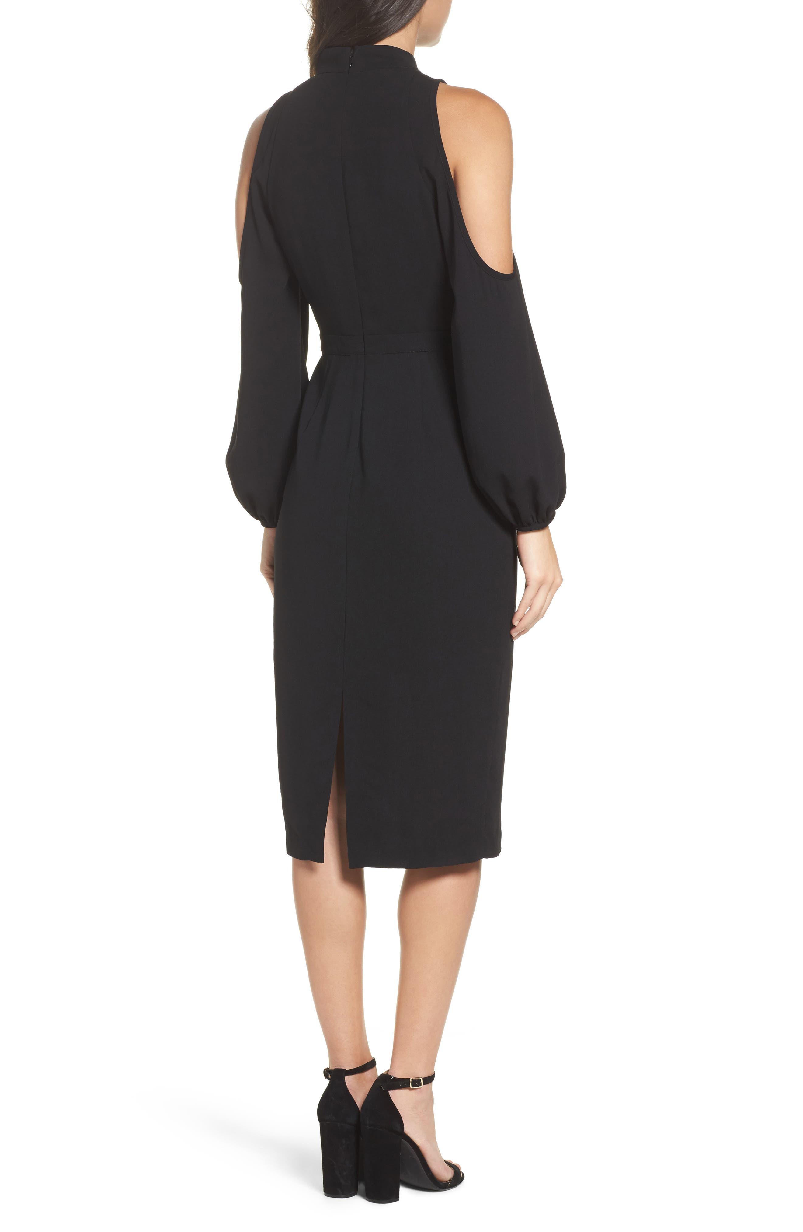 Power Shoulder Sheath Dress,                             Alternate thumbnail 2, color,                             001