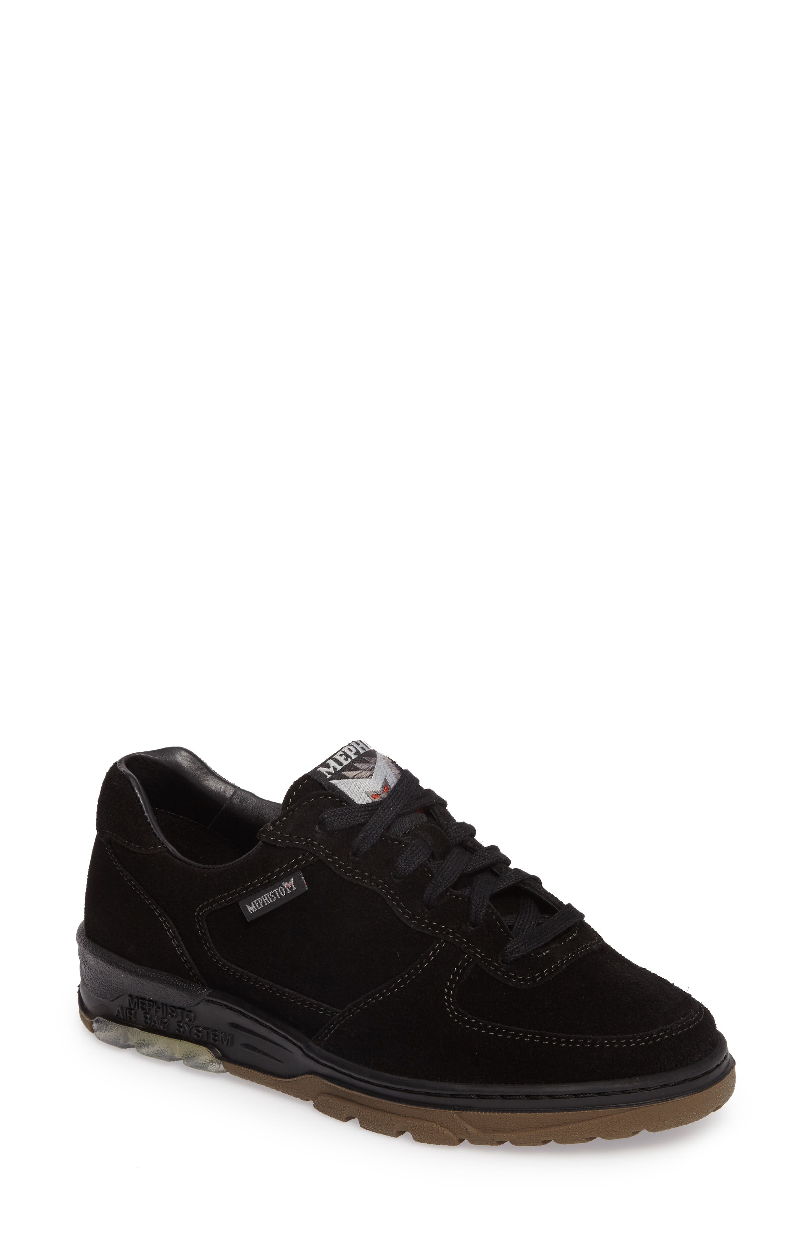 Nykita Sneaker,                             Main thumbnail 1, color,                             BLACK SUEDE