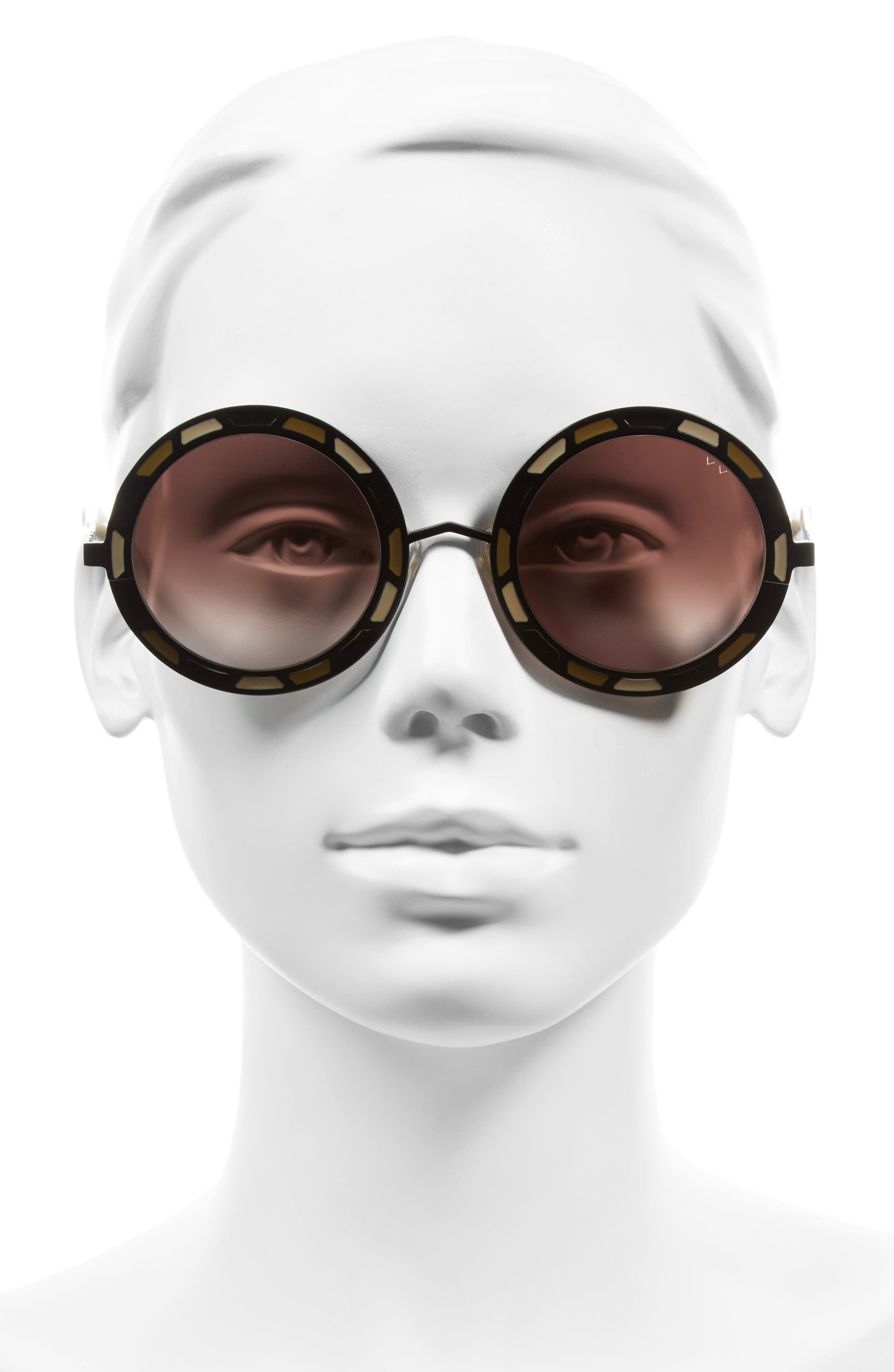 Sonny & Cher 50mm Round Sunglasses,                             Alternate thumbnail 2, color,                             001