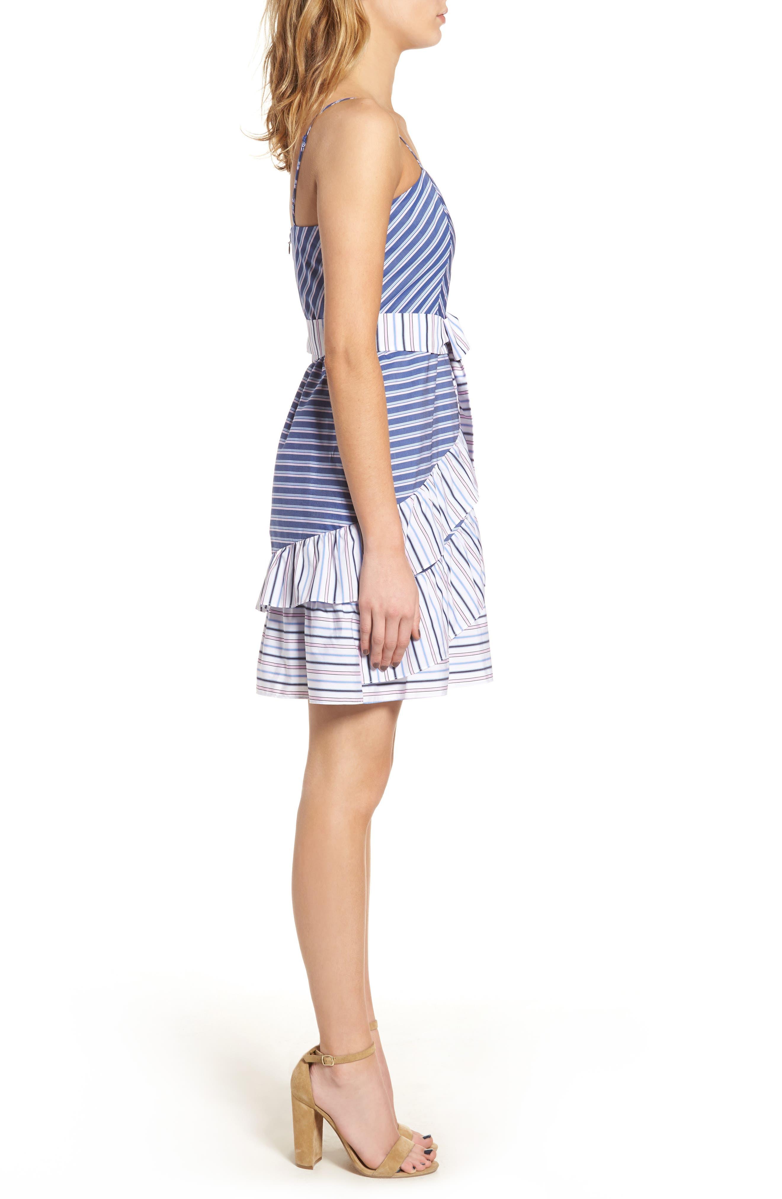 Brooklyn Ruffle Dress,                             Alternate thumbnail 3, color,                             400