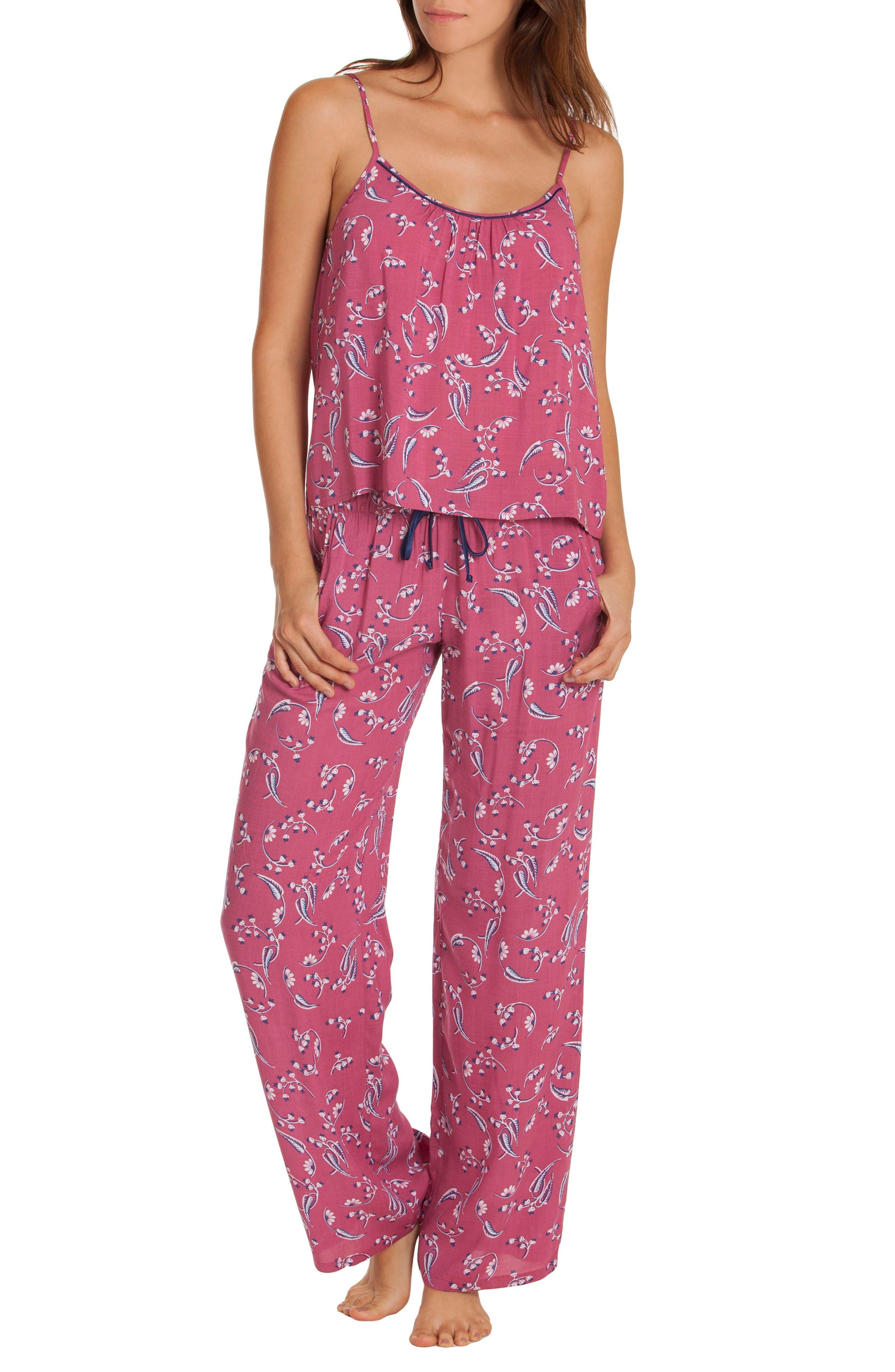 Floral Pajamas,                             Main thumbnail 1, color,                             651