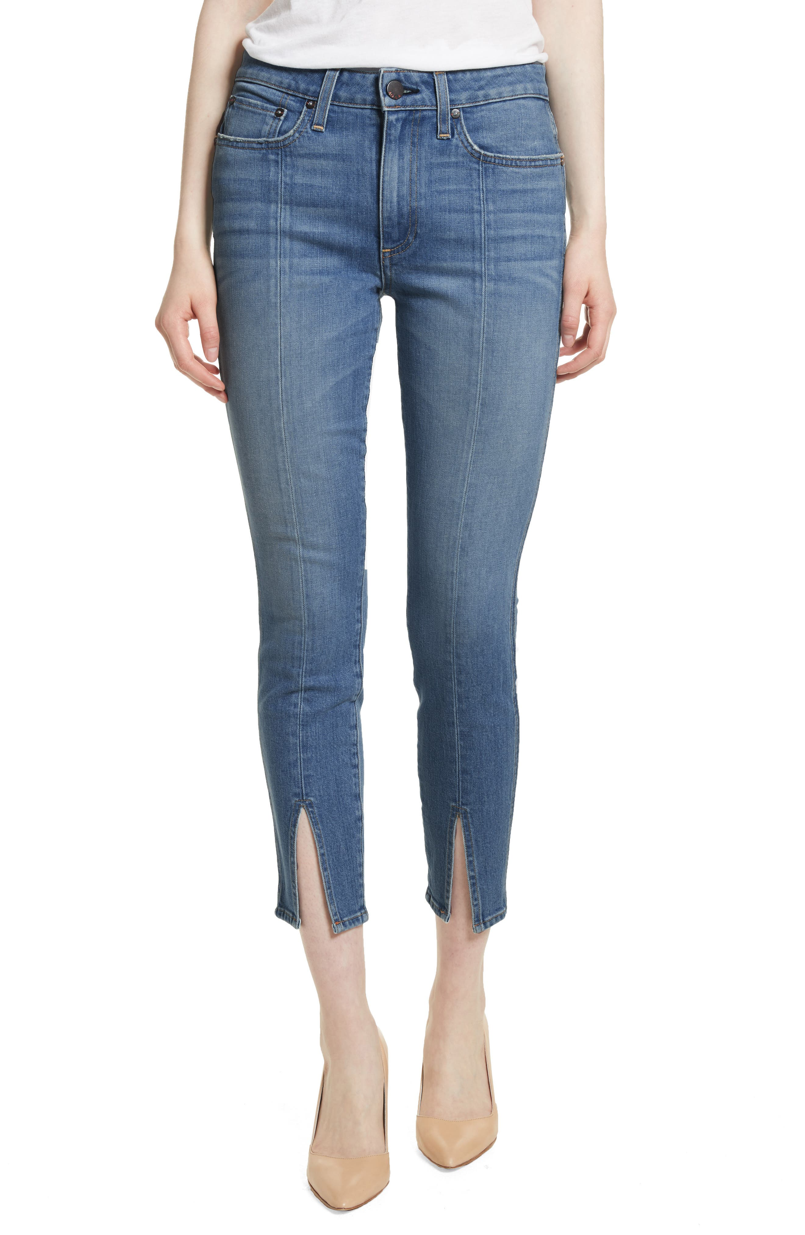 AO.LA Good Ankle Skinny Jeans,                             Main thumbnail 1, color,                             SWEET EMOTION
