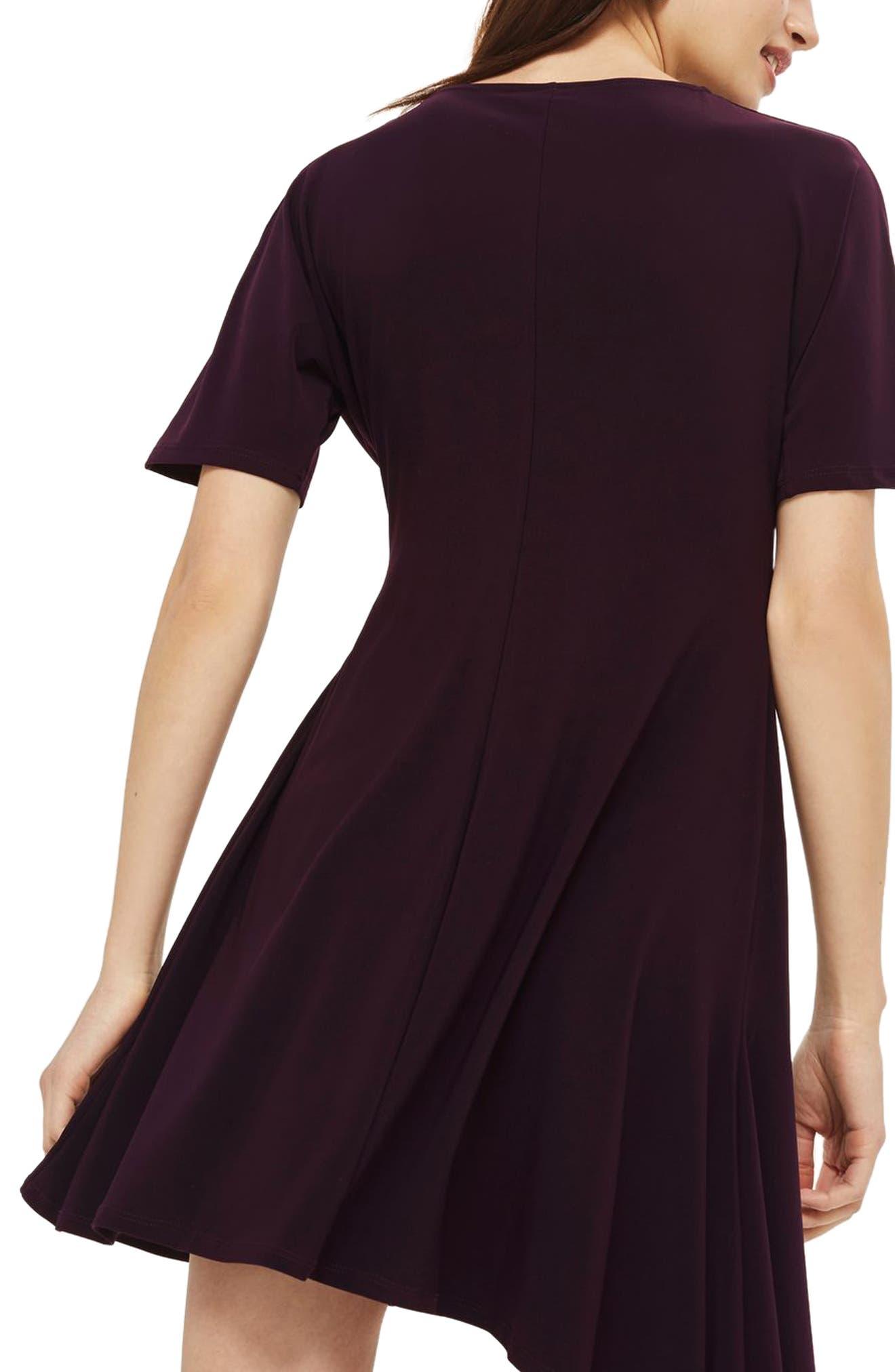 Gathered Asymmetrical Skater Dress,                             Alternate thumbnail 2, color,                             930