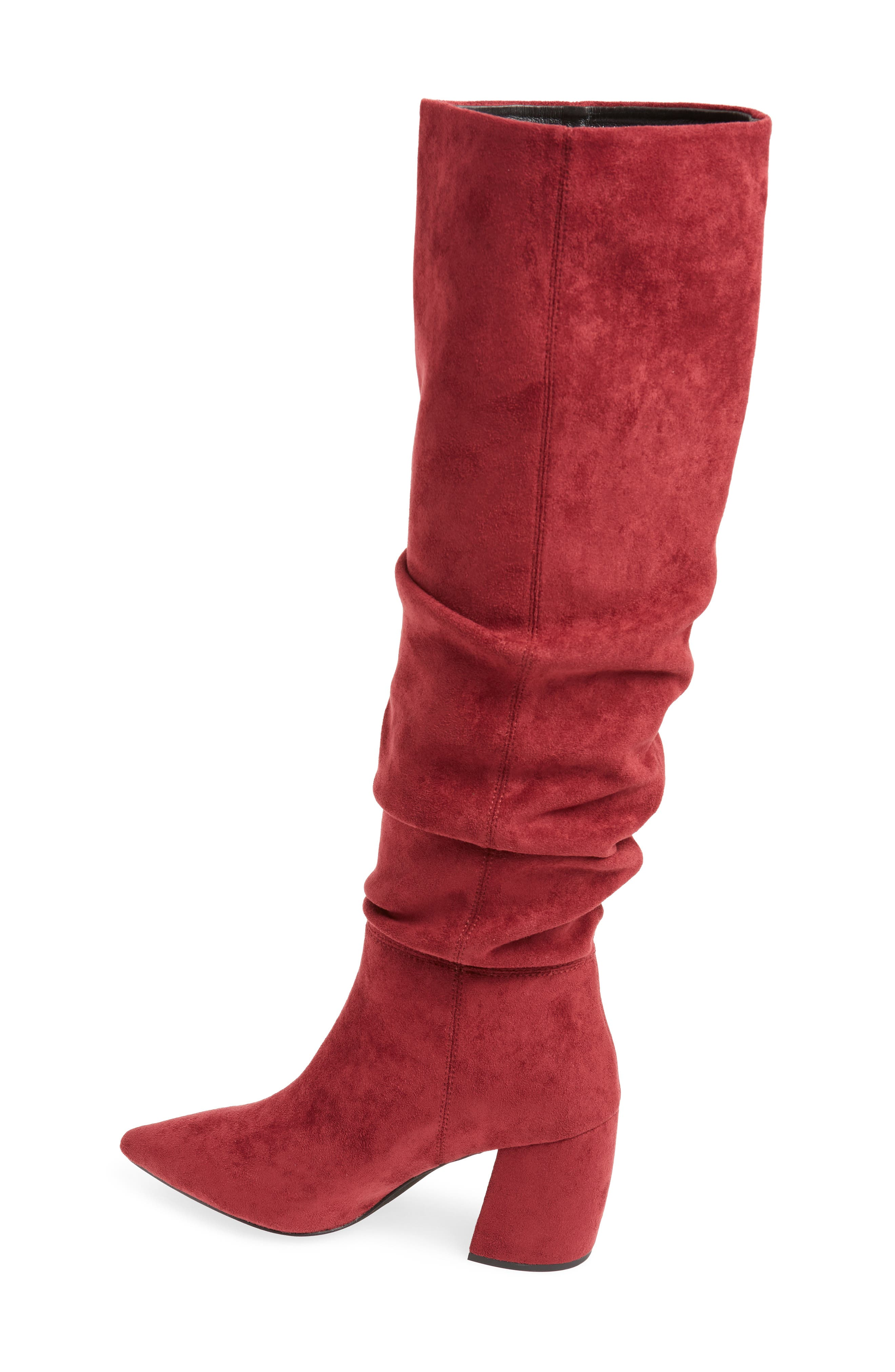 Final Slouch Over the Knee Boot,                             Alternate thumbnail 2, color,                             WINE SUEDE