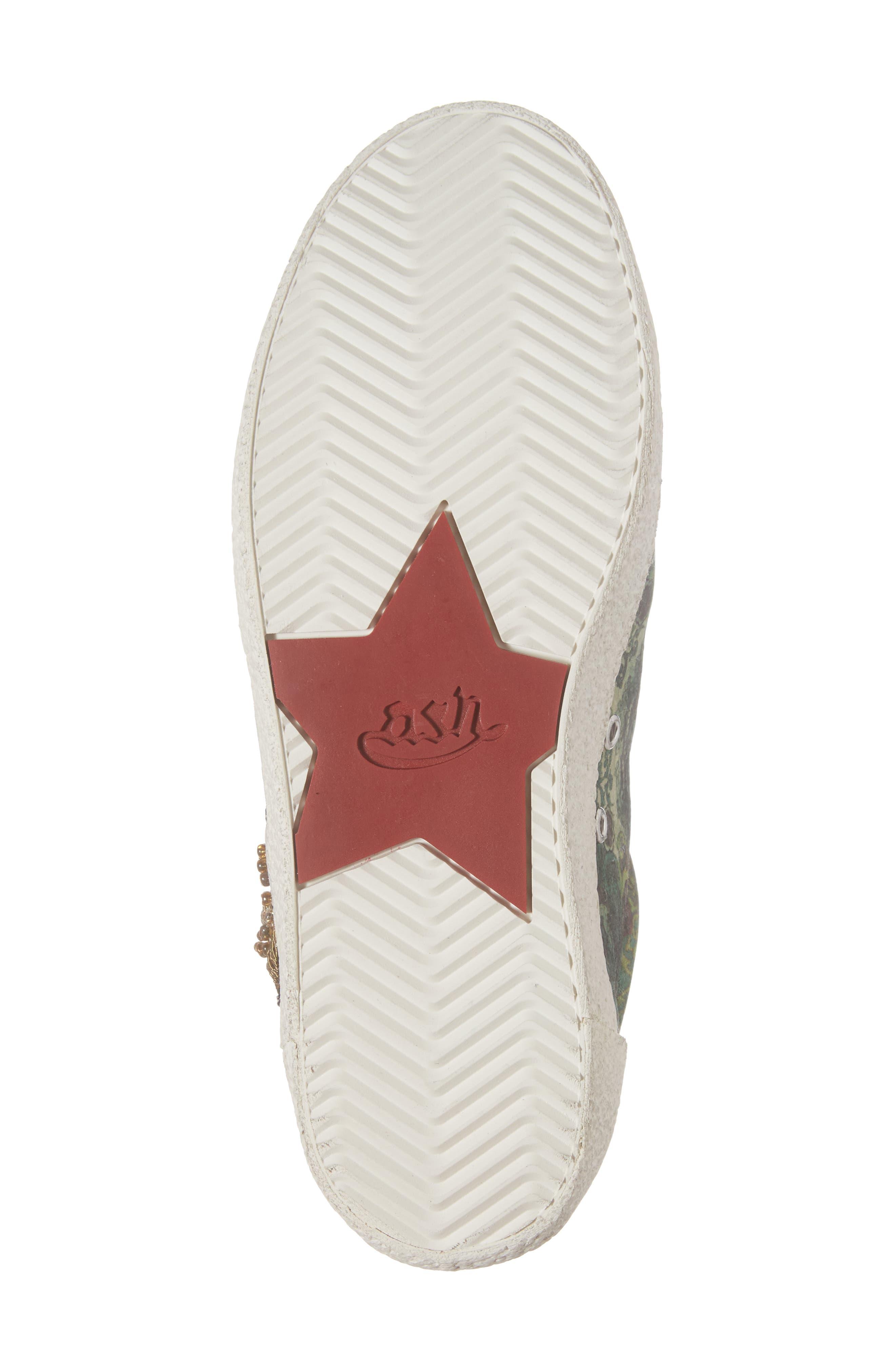 Embellished Low-Top Sneaker,                             Alternate thumbnail 6, color,                             312