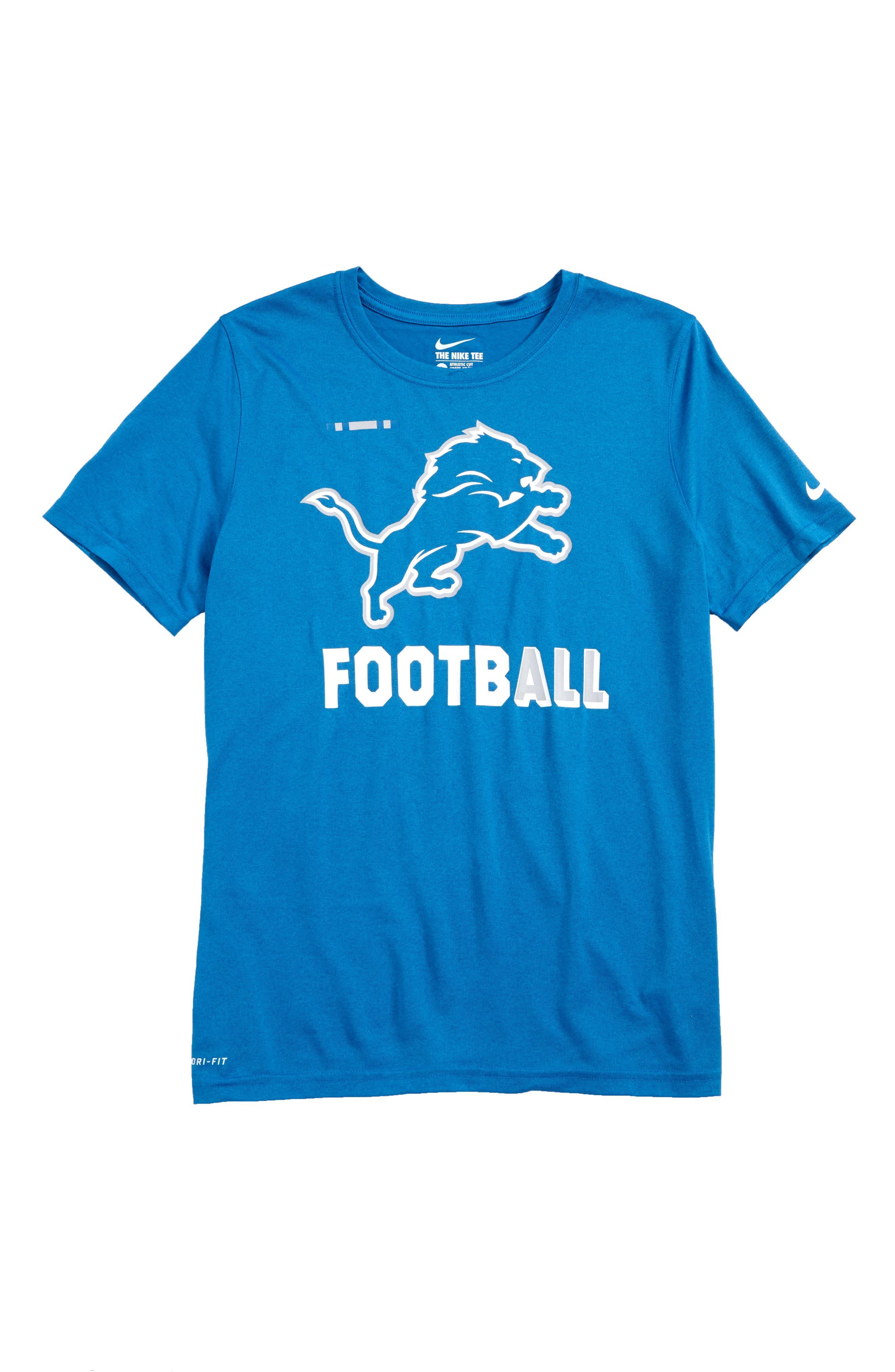 Nike NFL Logo - Detroit Lions Dry T-Shirt,                         Main,                         color, 425