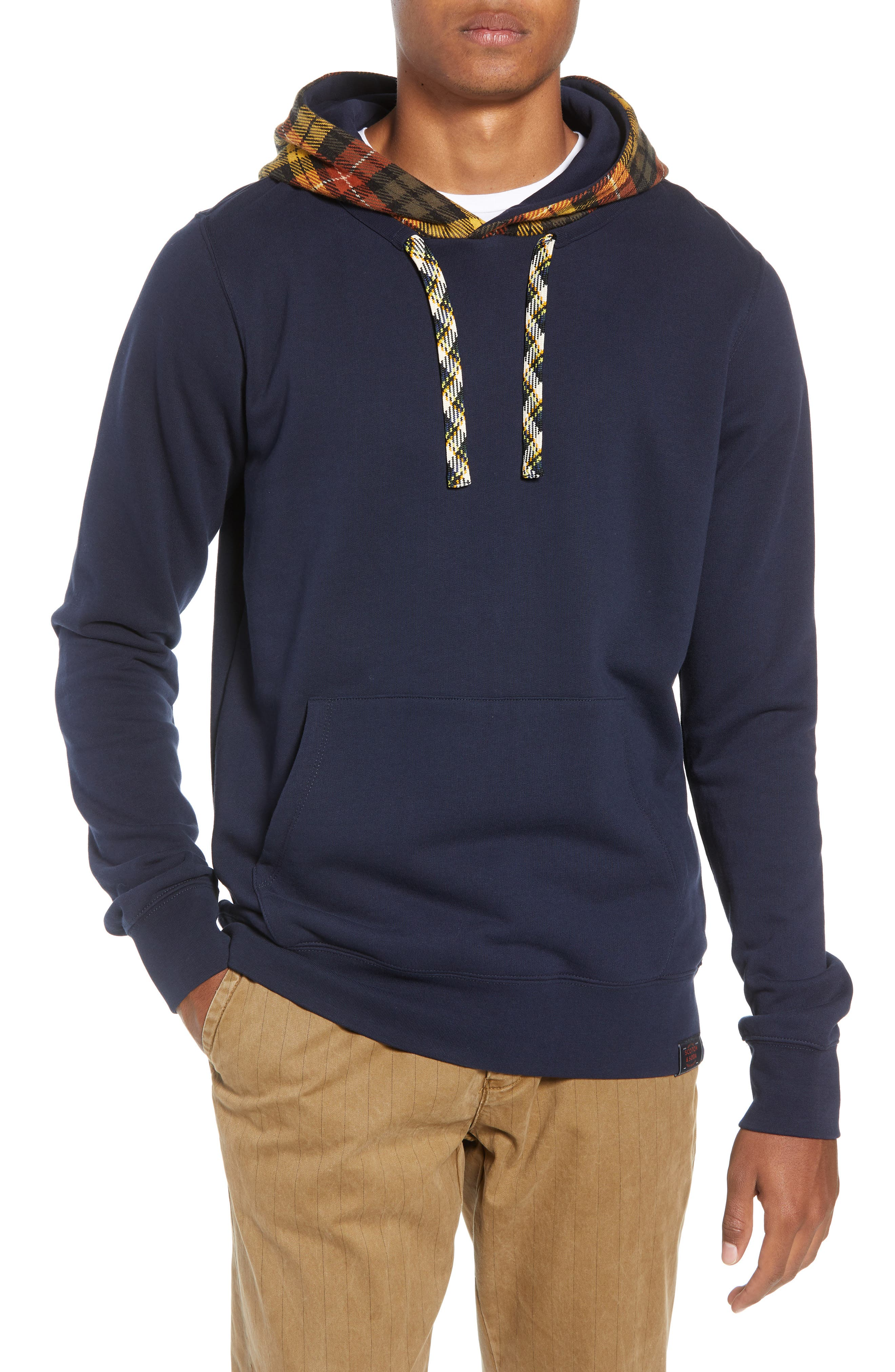 Contrast Hooded Pullover,                             Main thumbnail 1, color,                             COMBO A