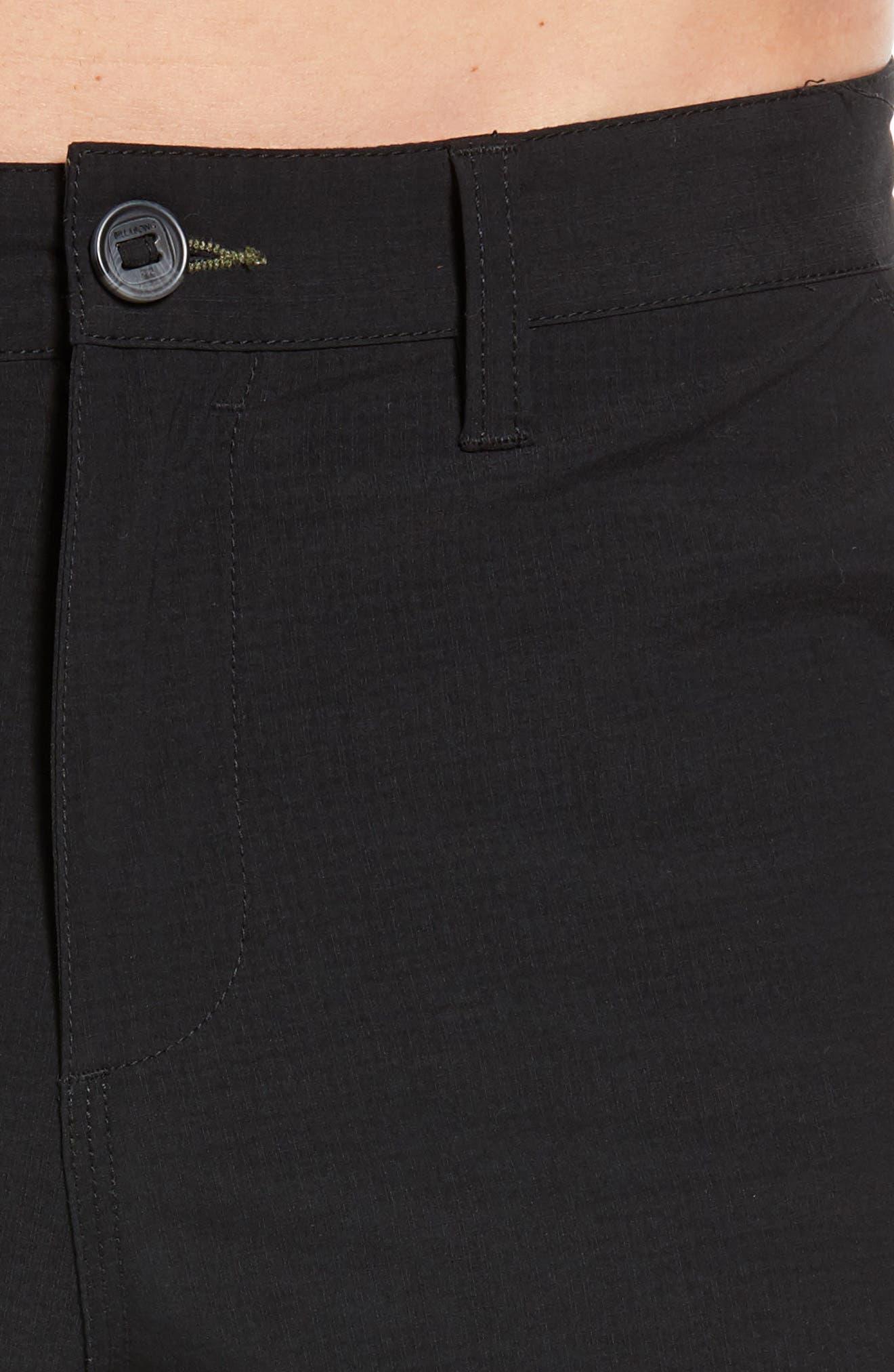 Surfreak Hybrid Shorts,                             Alternate thumbnail 4, color,                             BLACK