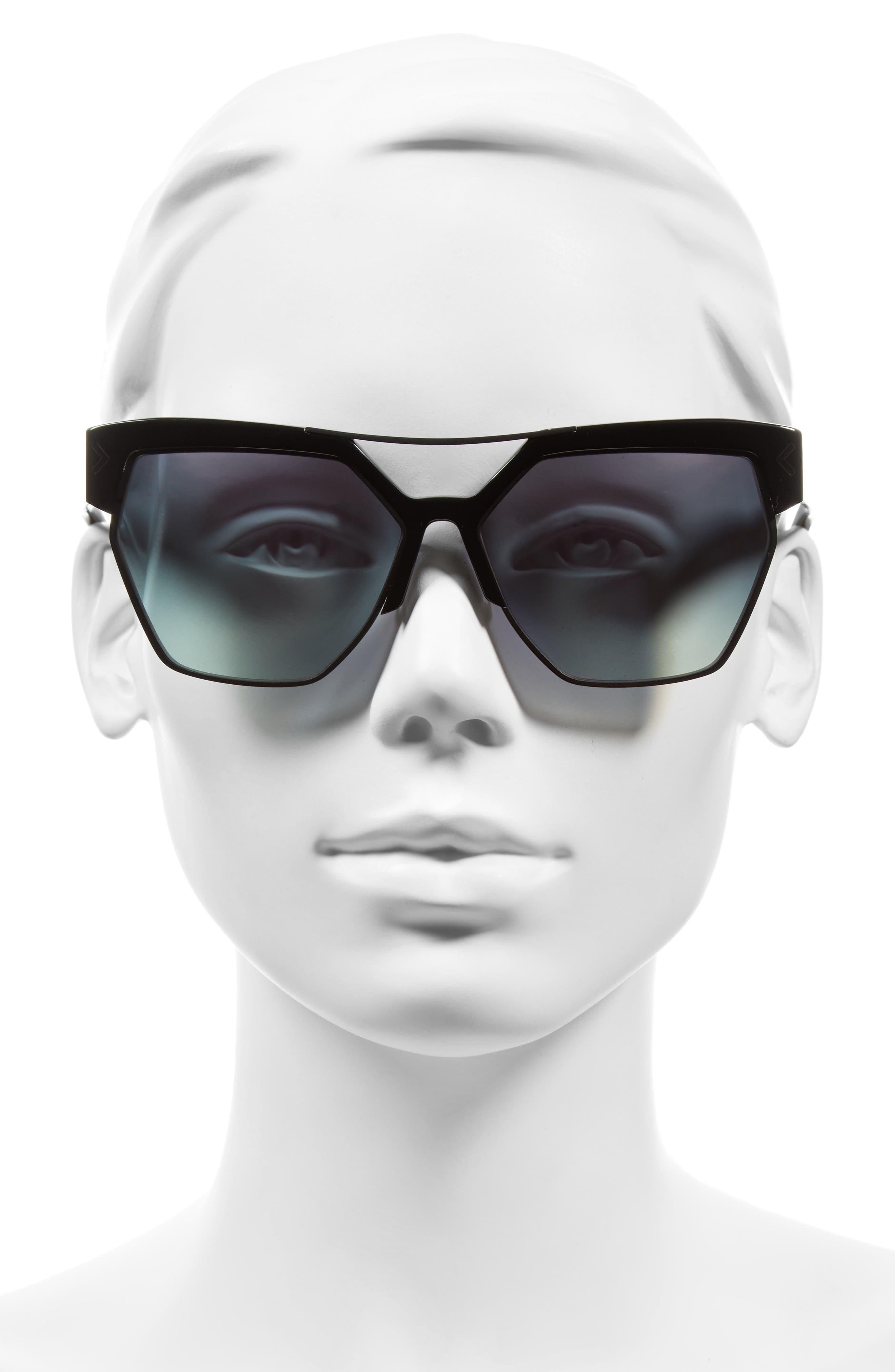 55mm Retro Sunglasses,                             Alternate thumbnail 8, color,