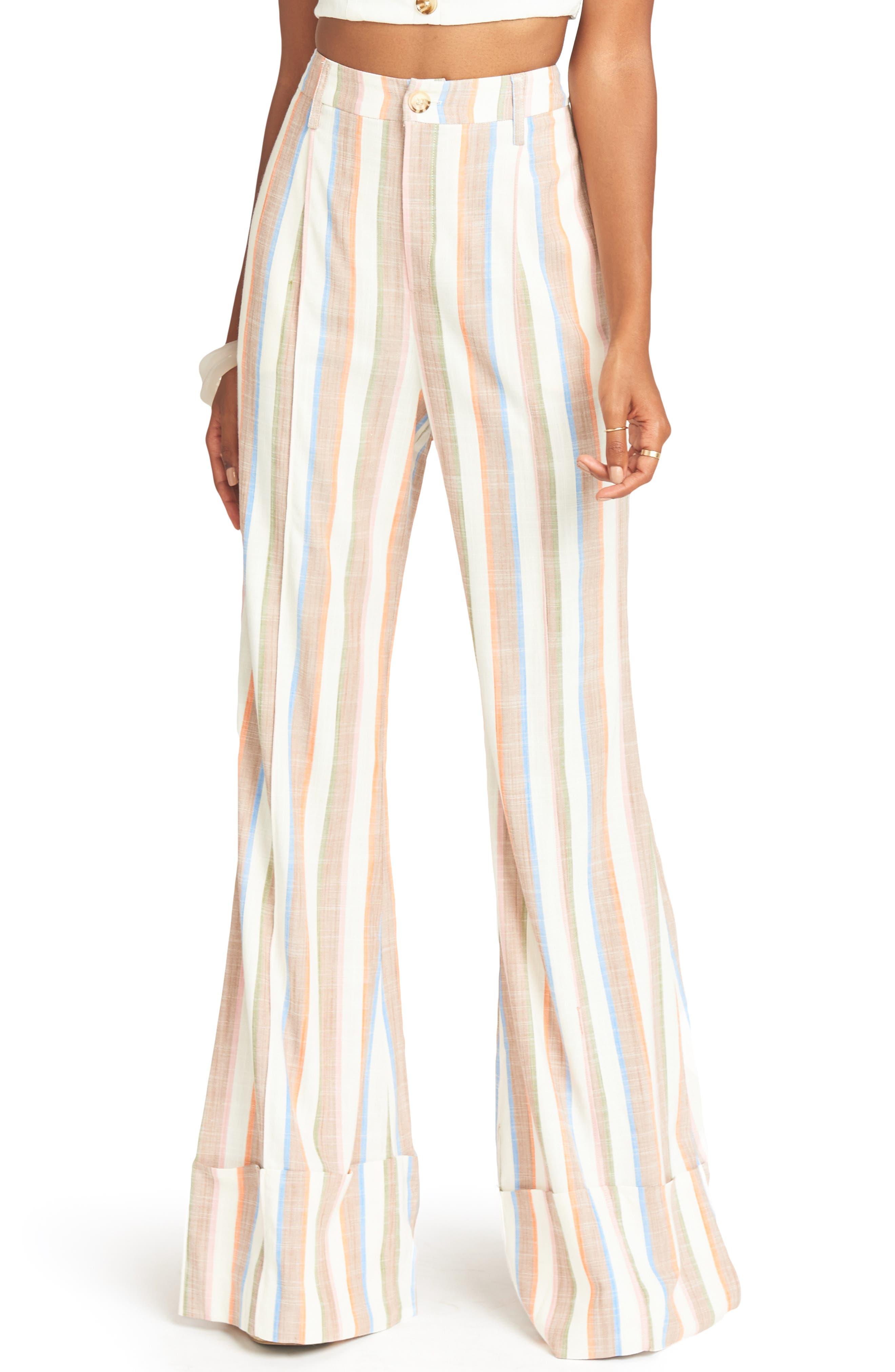 Show Me Your Mumu Edison Flare Pants, White