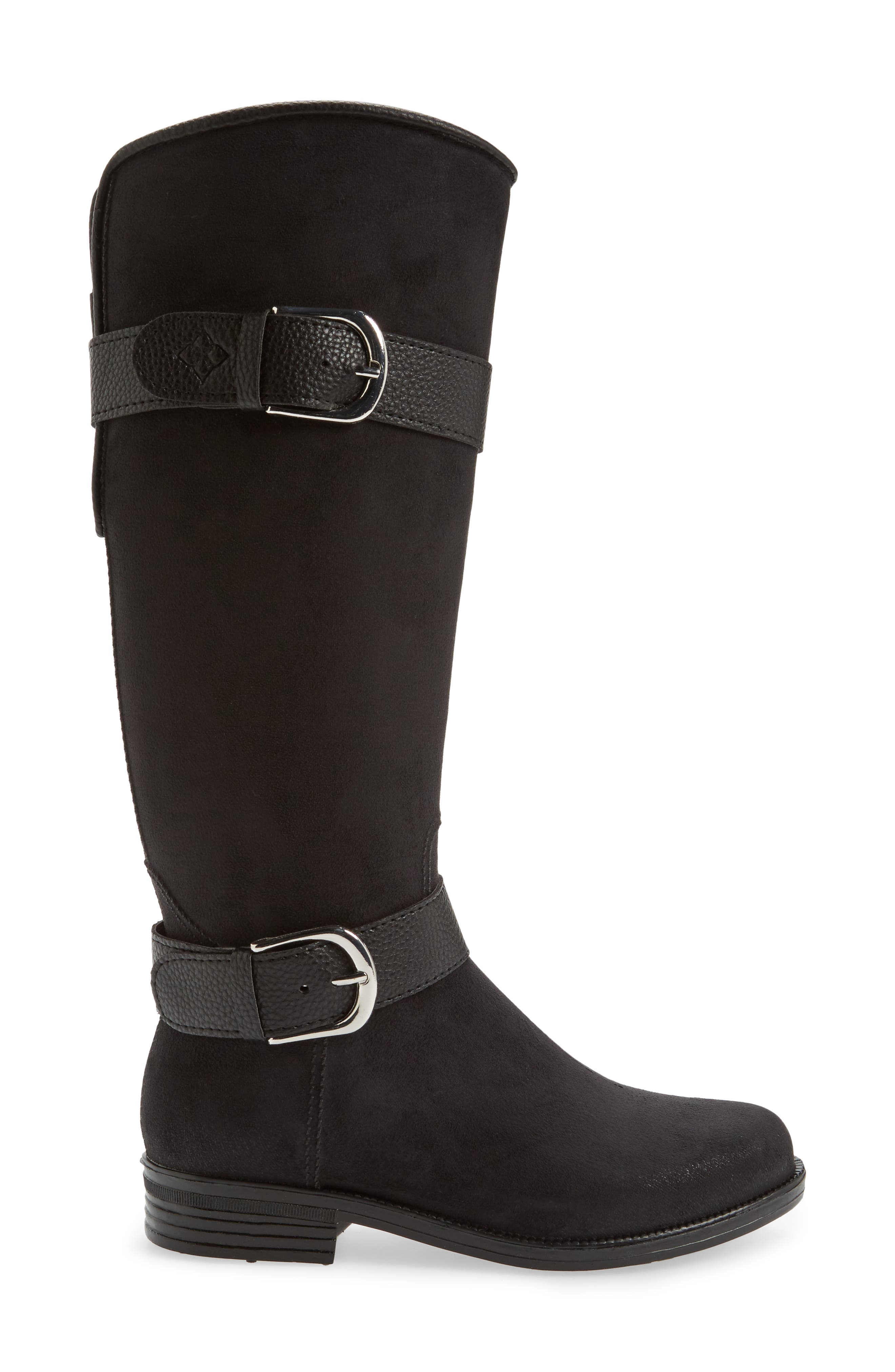 Bristol Water Resistant Boot,                             Alternate thumbnail 3, color,                             BLACK