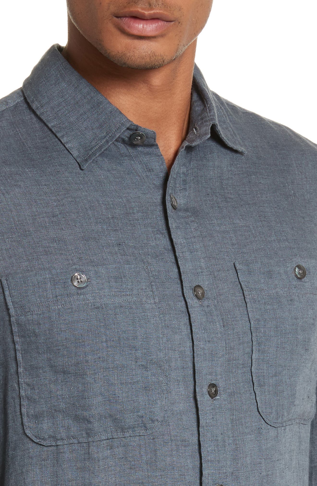 Linen Shirt,                             Alternate thumbnail 8, color,