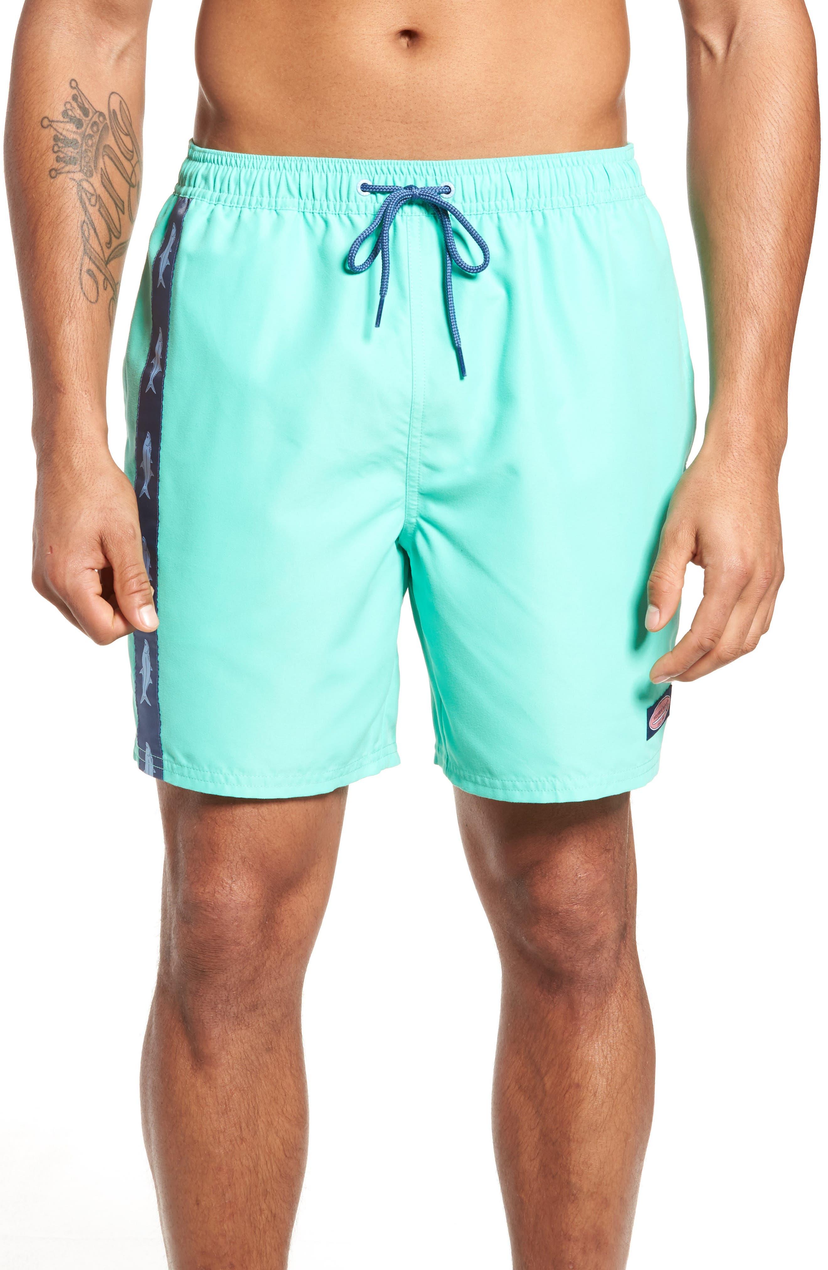 VINEYARD VINES Tarpon Taping Chappy Swim Trunks, Main, color, 359
