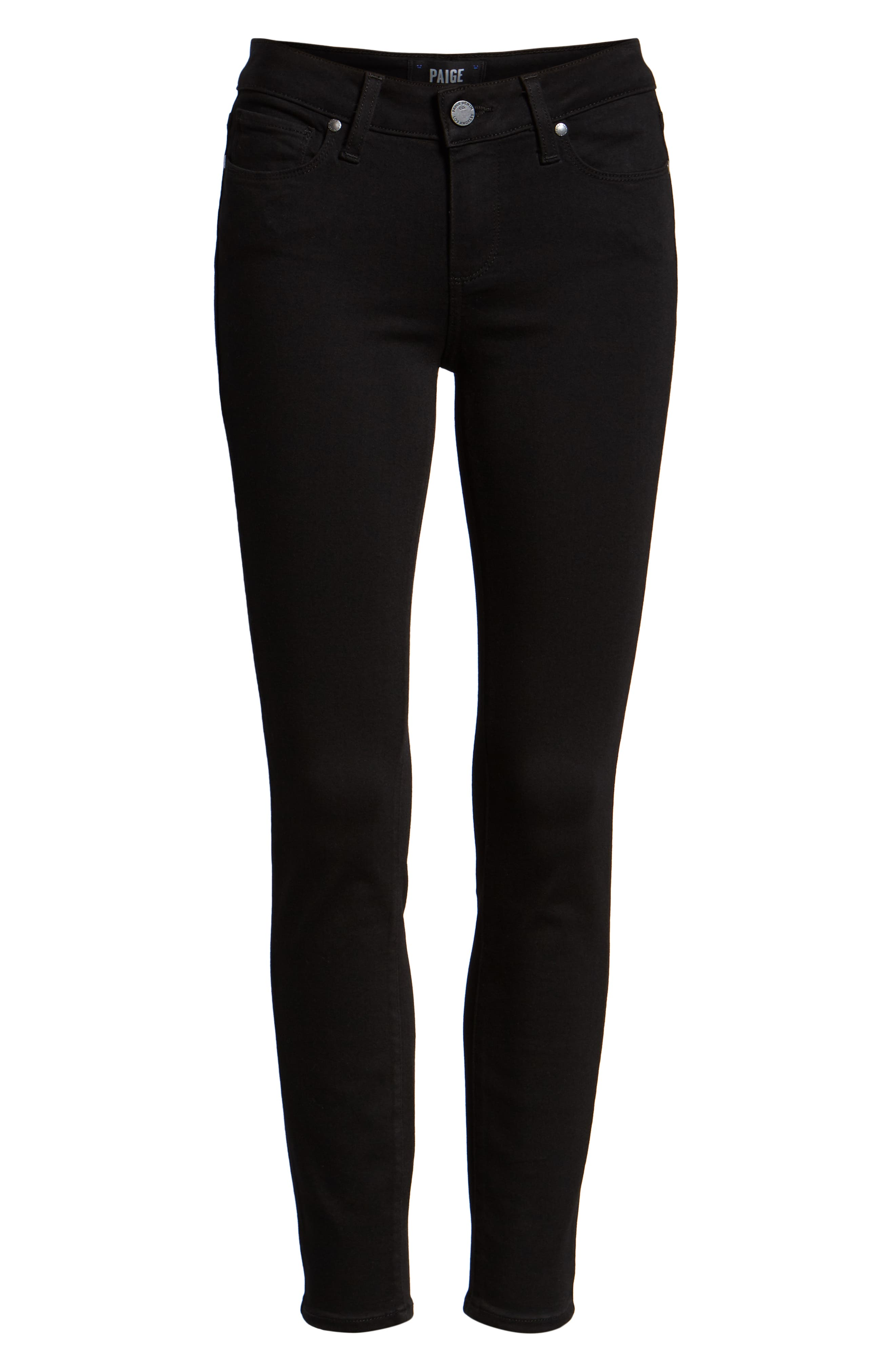 Transcend - Verdugo Ankle Ultra Skinny Jeans,                             Alternate thumbnail 8, color,                             BLACK SHADOW
