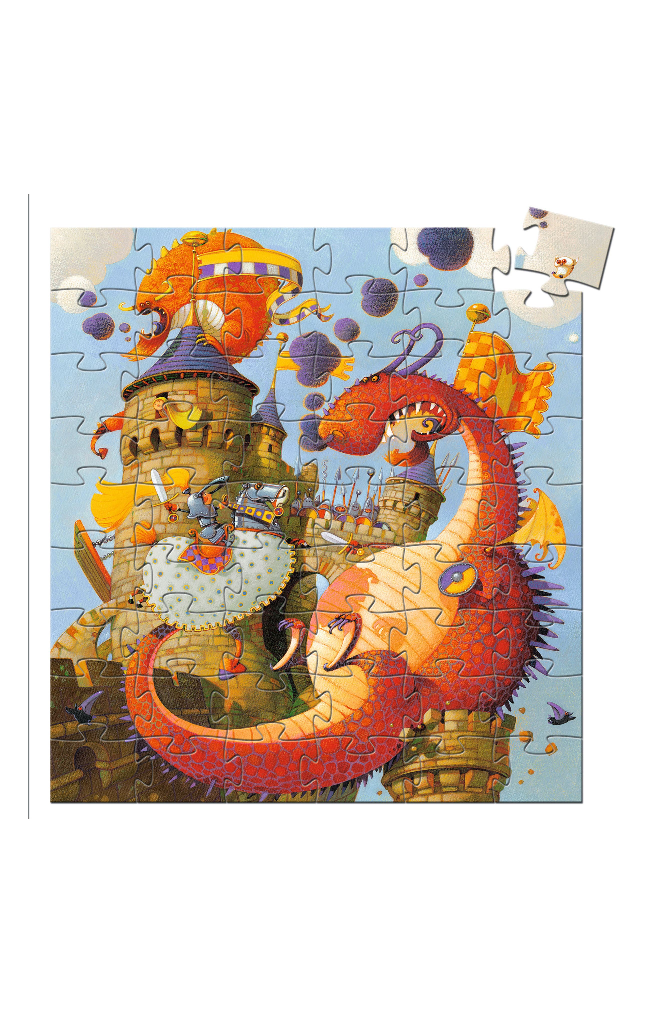 Silhouette Puzzles Vaillant and the Dragon 54-Piece Puzzle,                         Main,                         color, 400