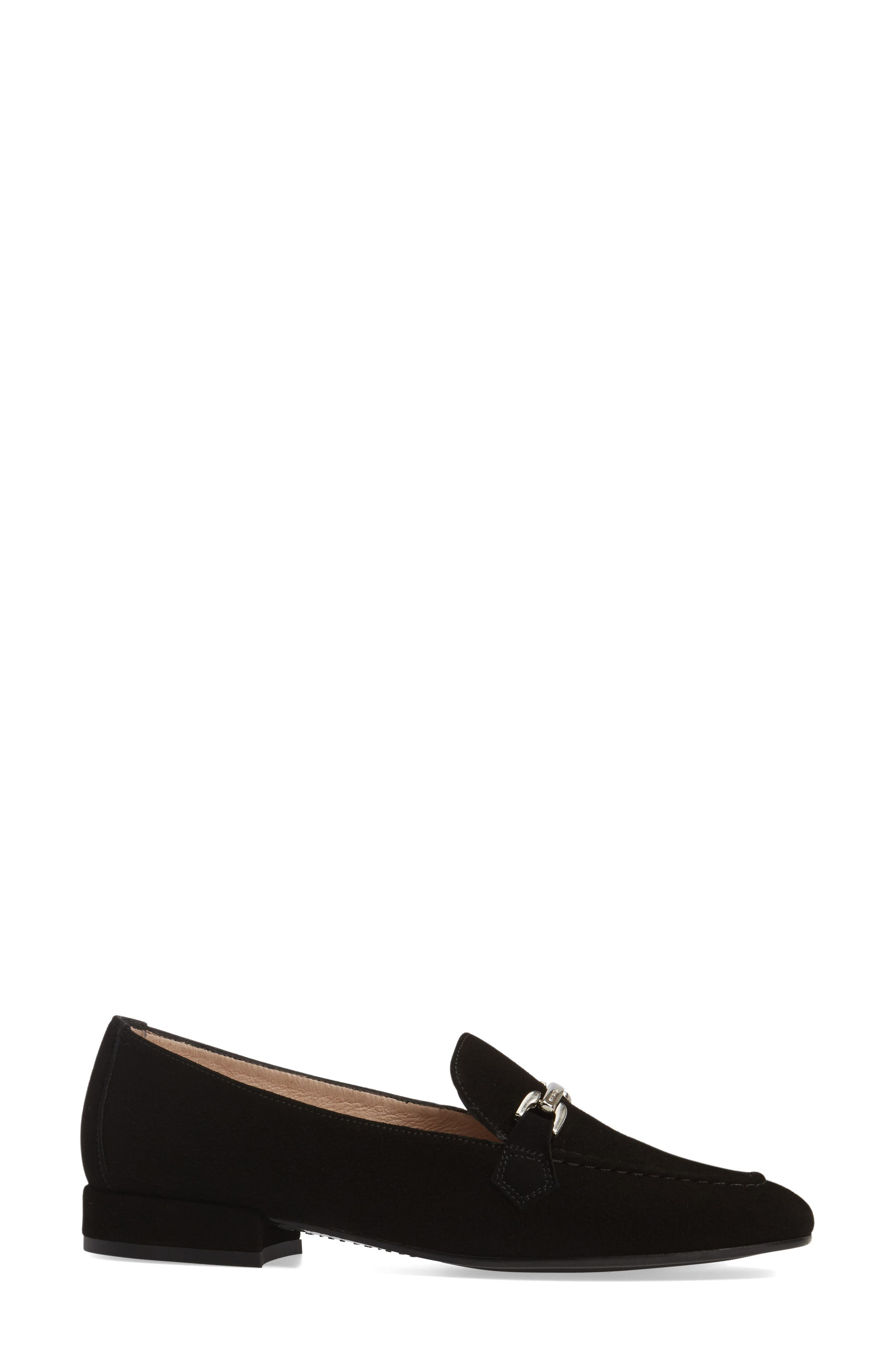 Evelyn Loafer,                             Alternate thumbnail 3, color,                             BLACK FABRIC