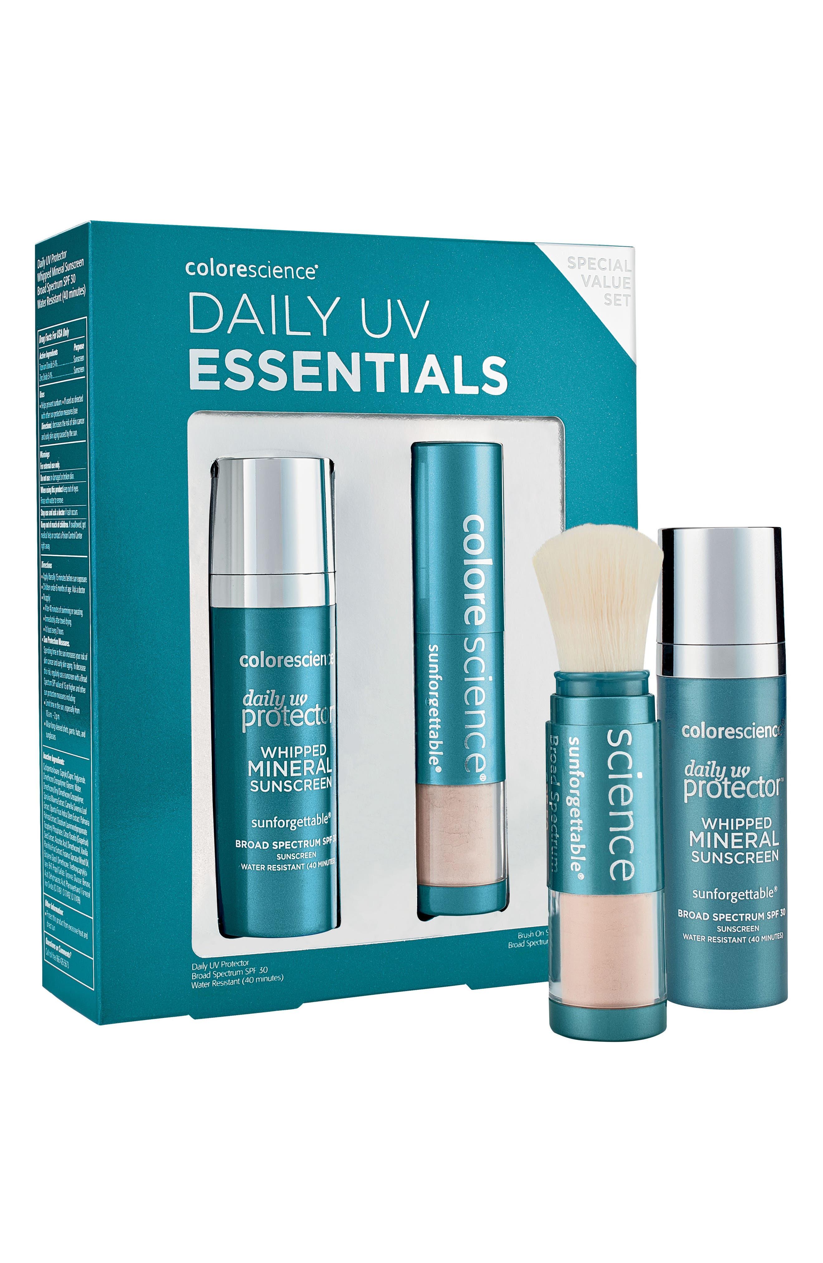 Daily UV Essentials Kit,                             Main thumbnail 1, color,                             NO COLOR
