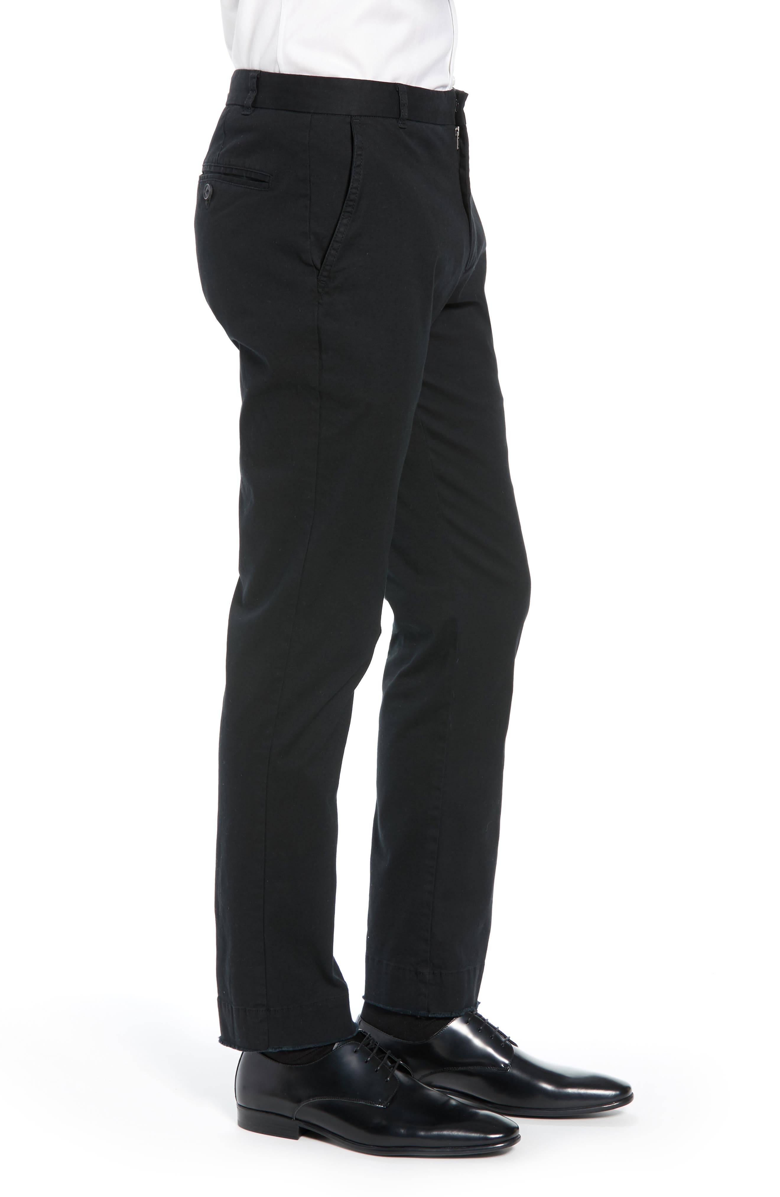 Slim Fit Stretch Twill Pants,                             Alternate thumbnail 3, color,                             001