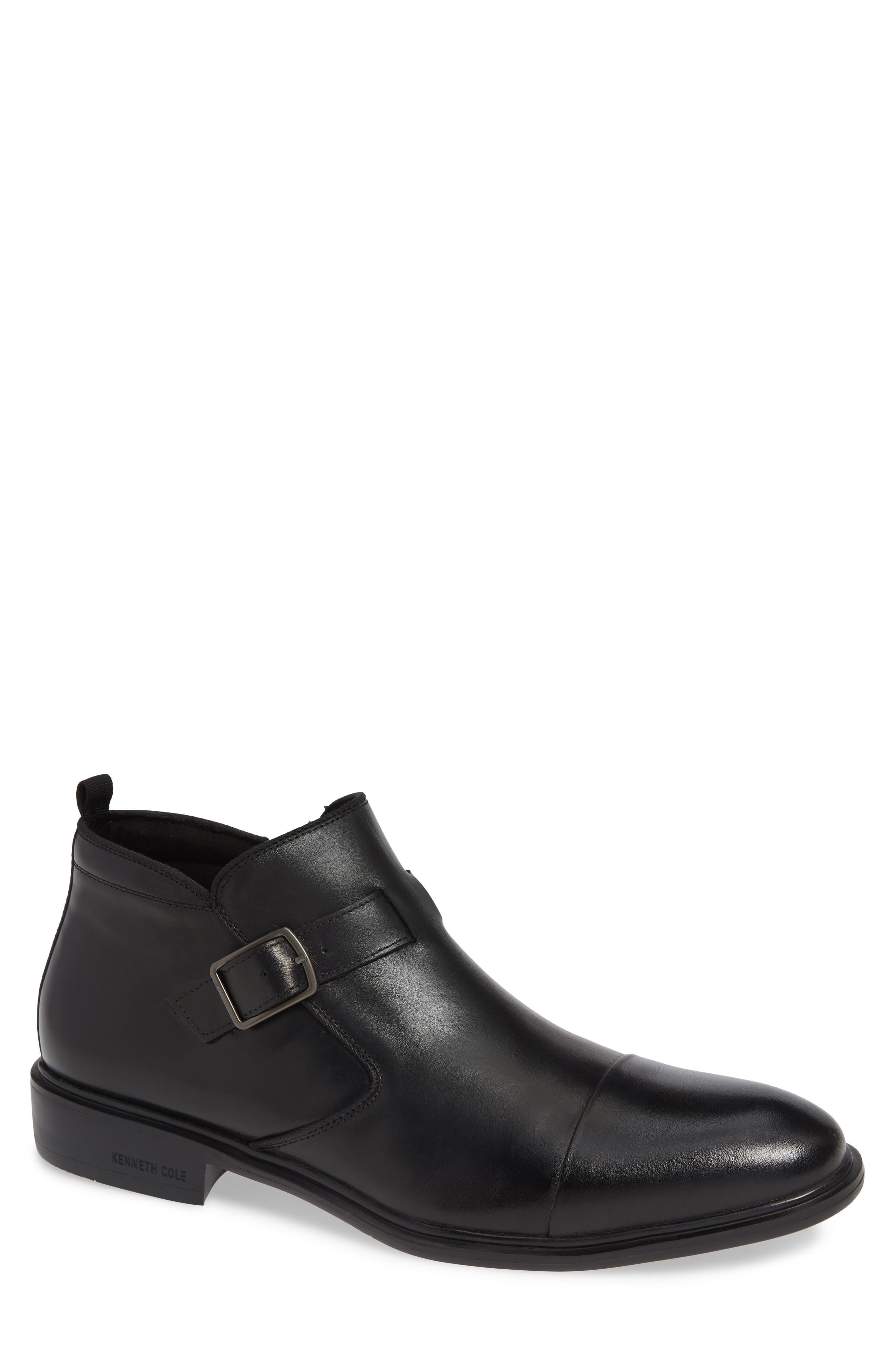 Garner Zip Boot,                         Main,                         color, BLACK LEATHER