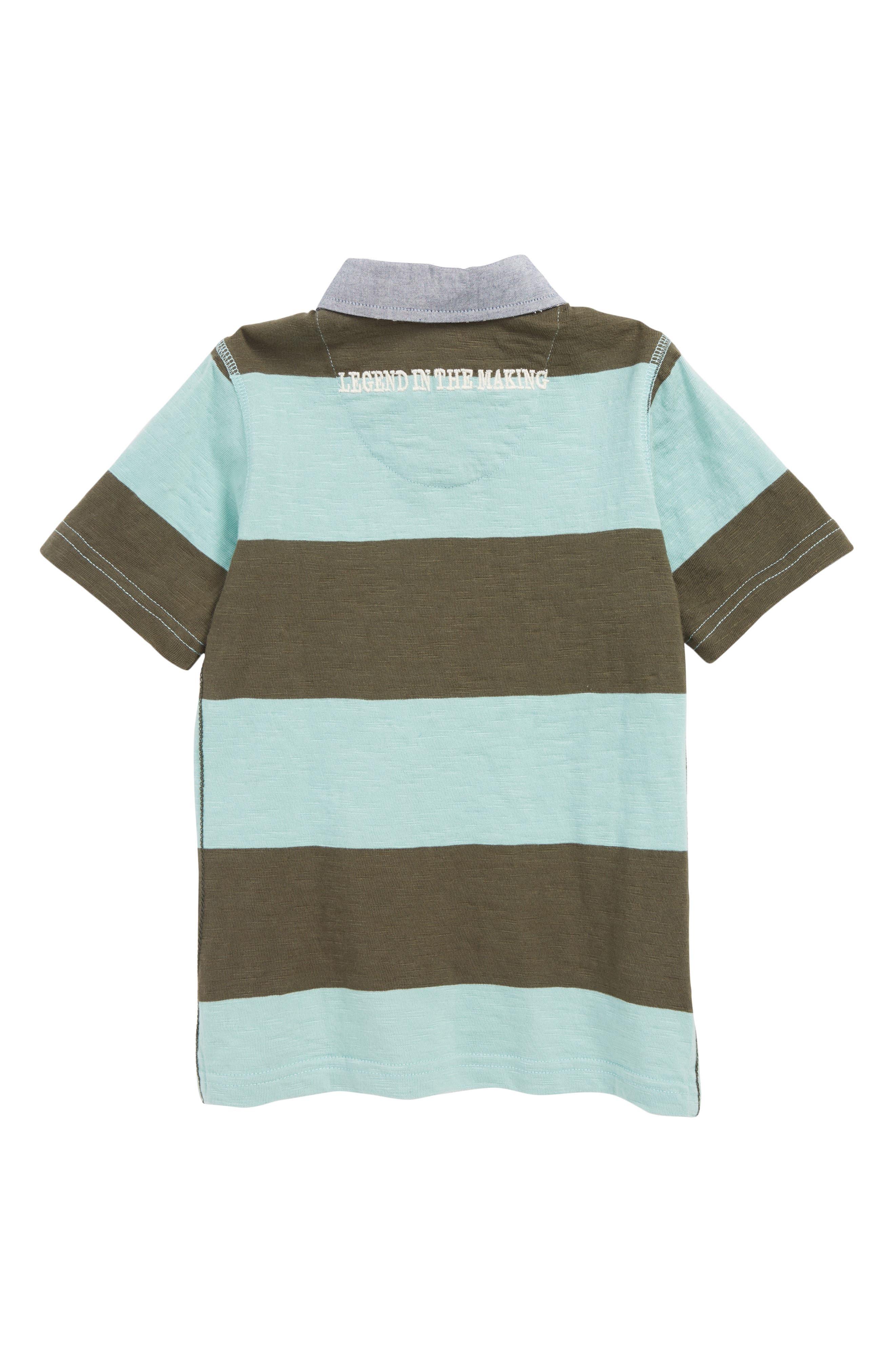 PEEK AREN'T YOU CURIOUS,                             Colton Stripe Polo Shirt,                             Alternate thumbnail 2, color,                             OLIVE