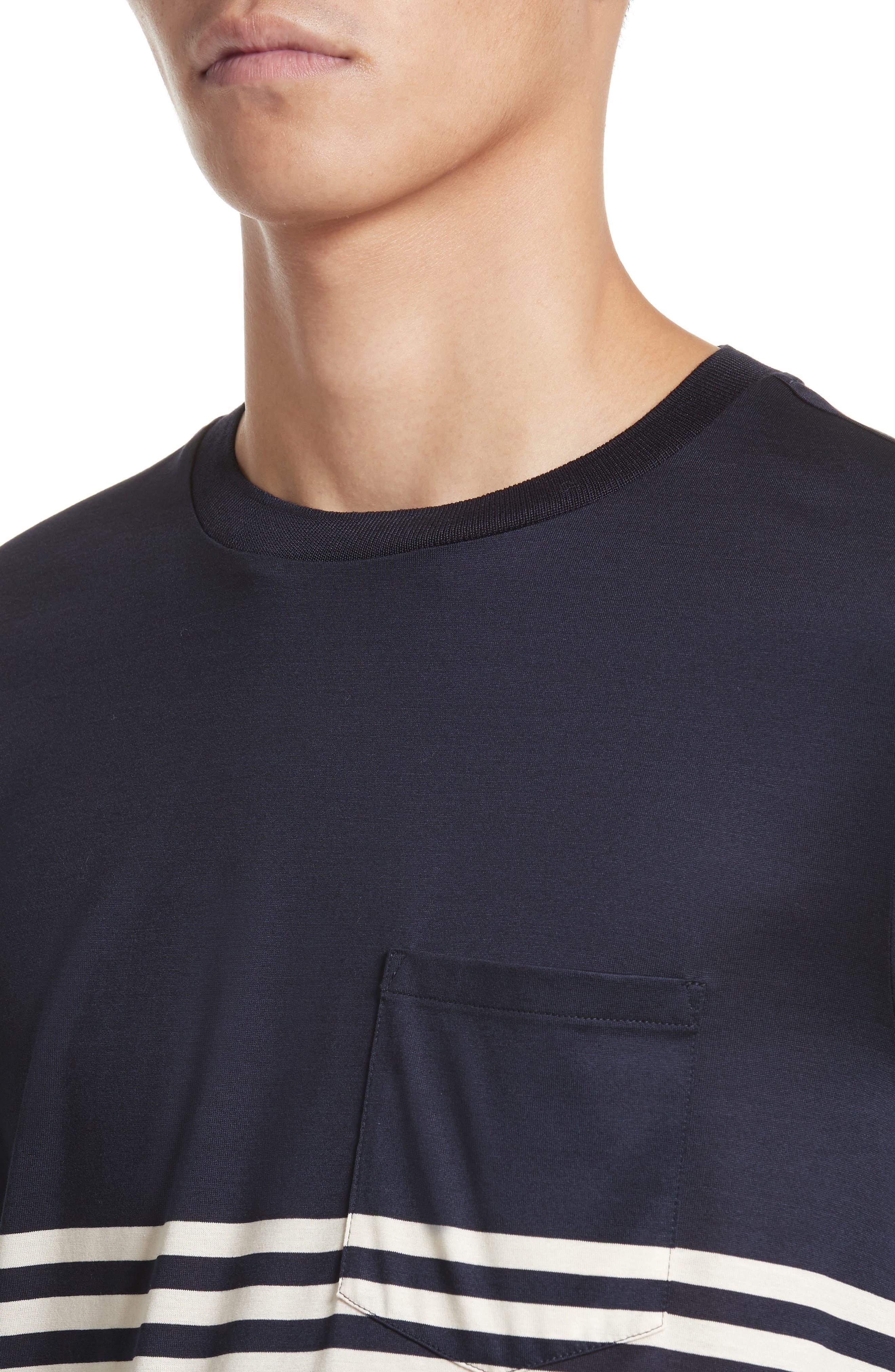 Stripe Long Sleeve T-Shirt,                             Alternate thumbnail 4, color,                             410