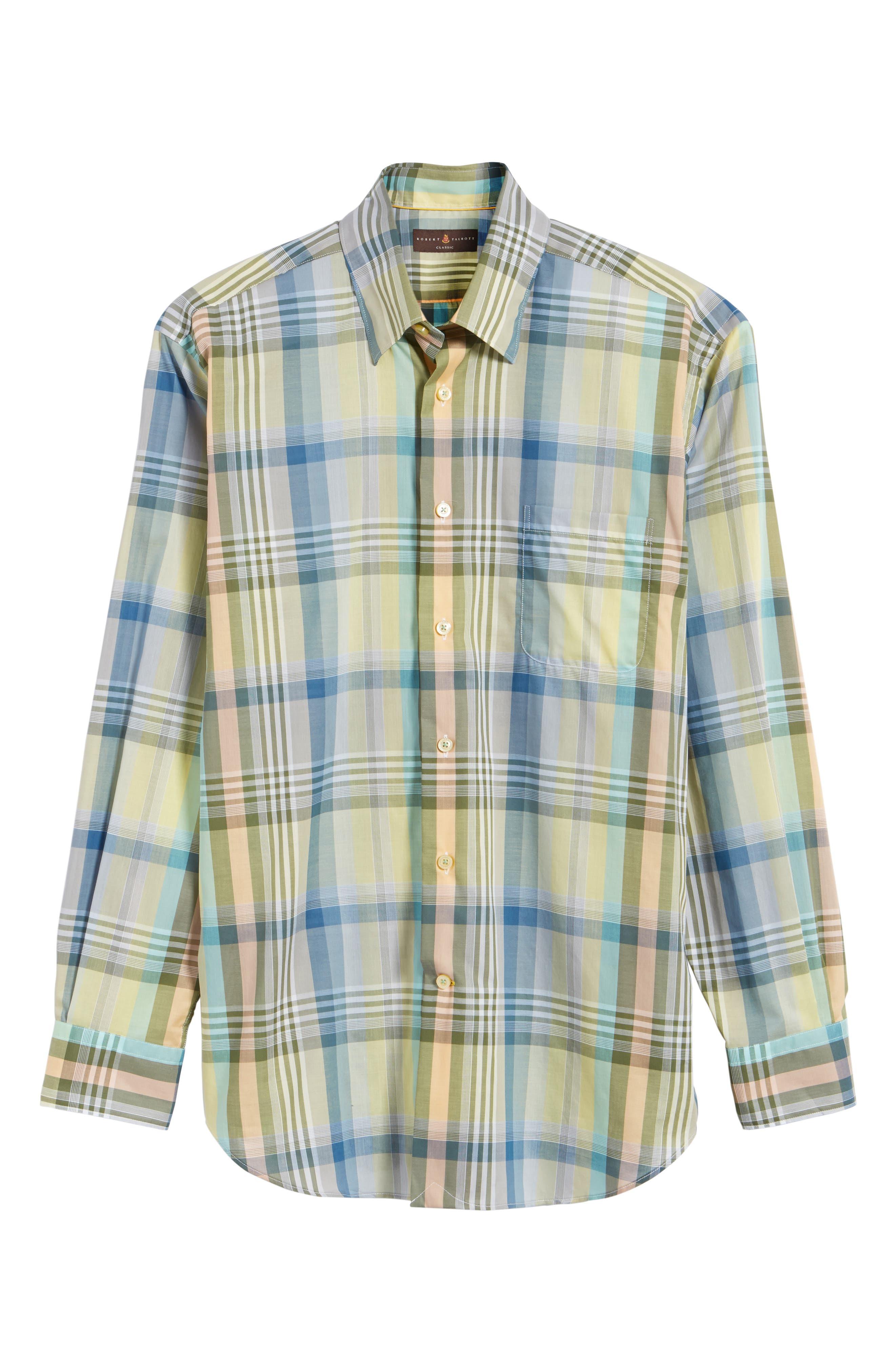 Anderson Classic Fit Plaid Sport Shirt,                             Alternate thumbnail 6, color,                             960