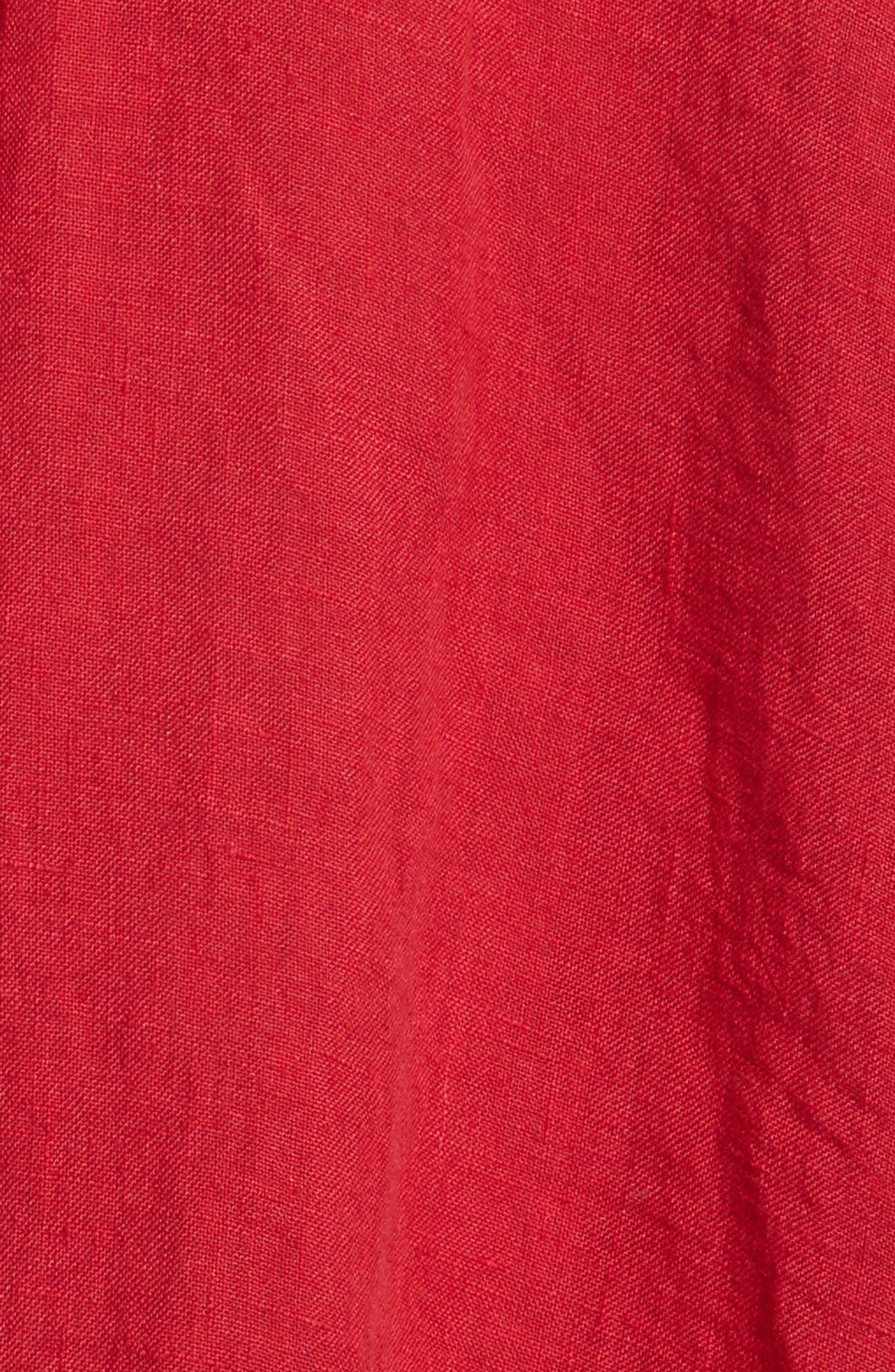 NILI LOTAN,                             Cleo Linen Blouse,                             Alternate thumbnail 5, color,                             600