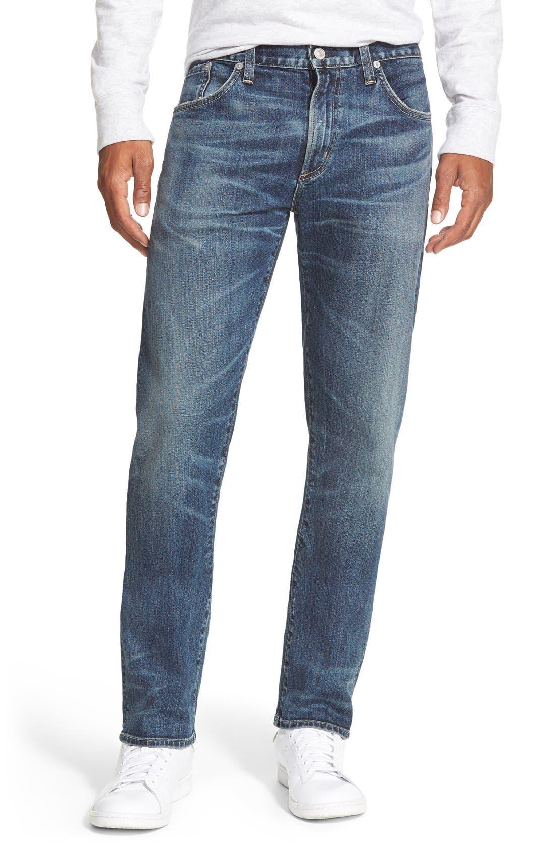 'Core' Slim Straight Leg Jeans,                             Main thumbnail 1, color,