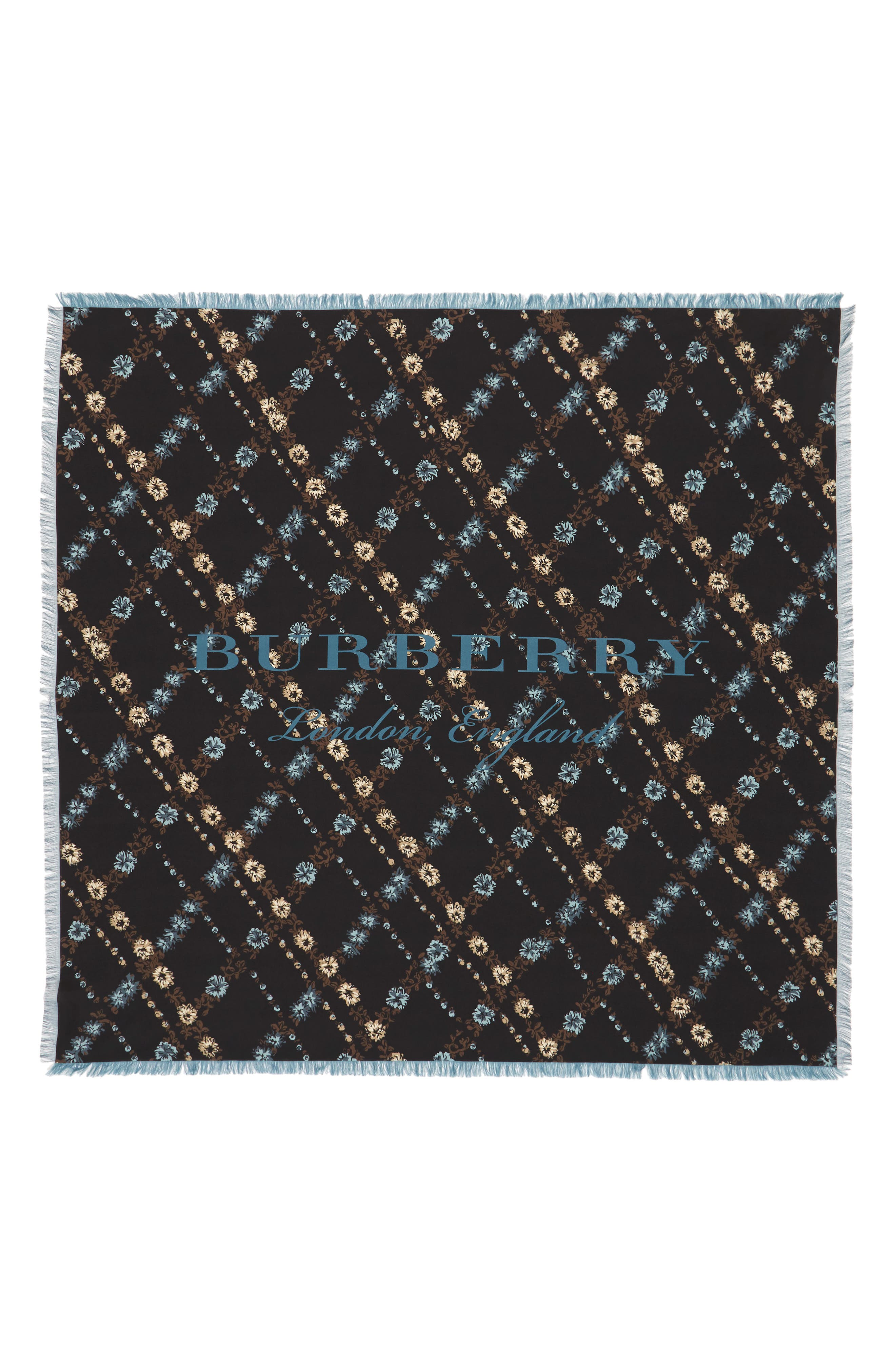 Castleford Check Silk Scarf,                             Alternate thumbnail 2, color,                             001