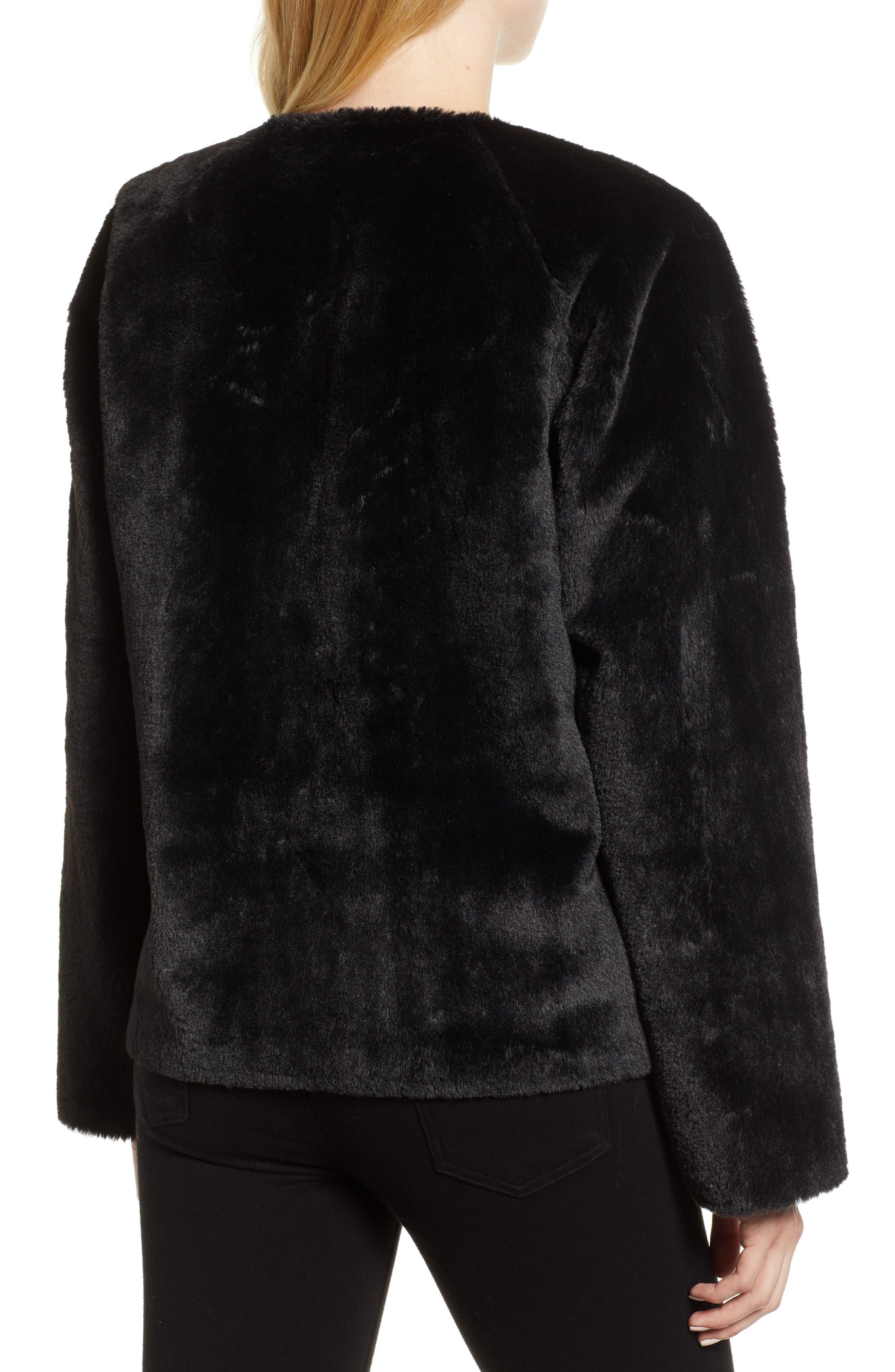 Colorblock Faux Fur Jacket,                             Alternate thumbnail 2, color,                             MULTI