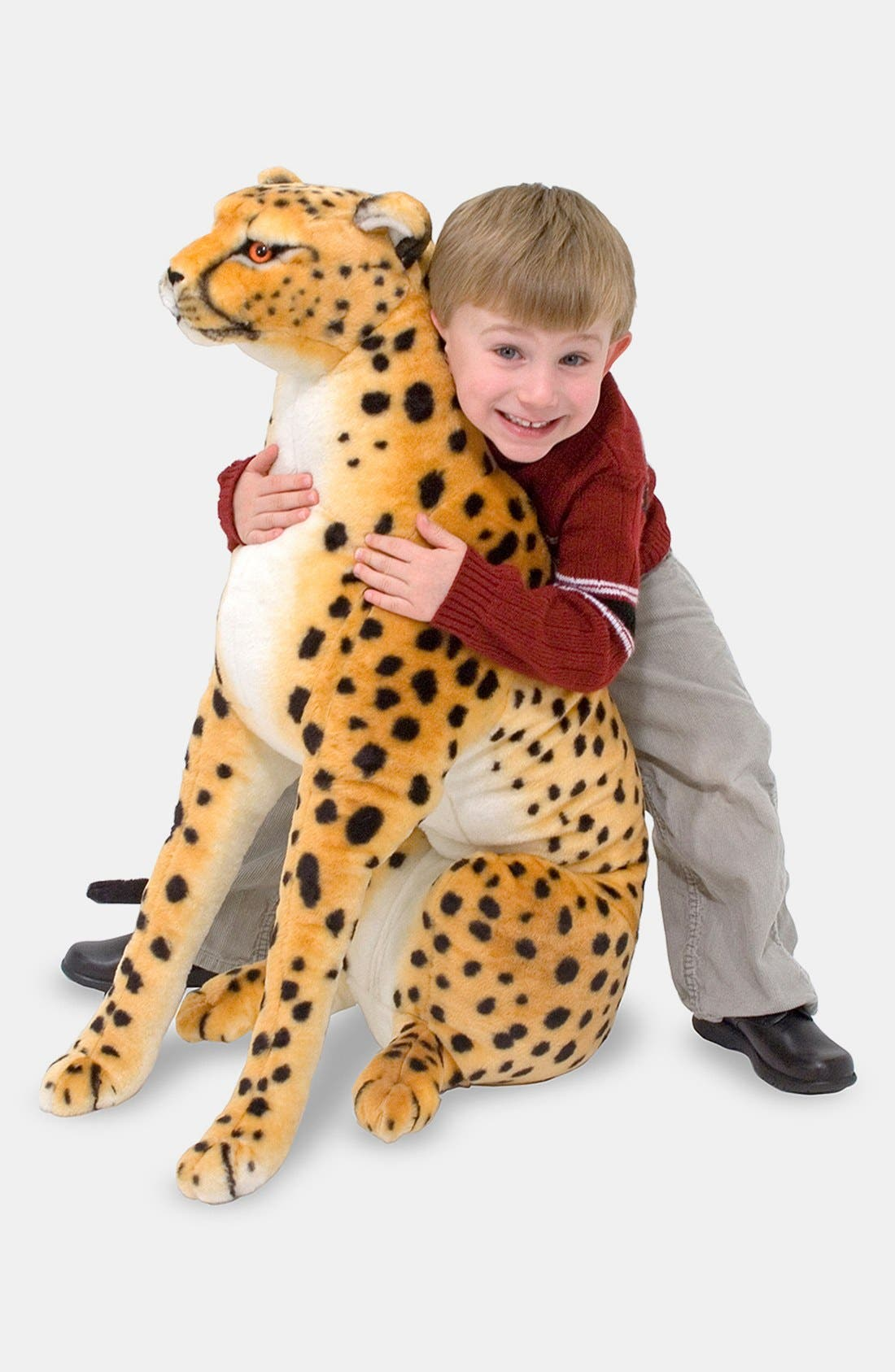 Plush Cheetah Stuffed Animal,                             Main thumbnail 1, color,                             TAN MULTI