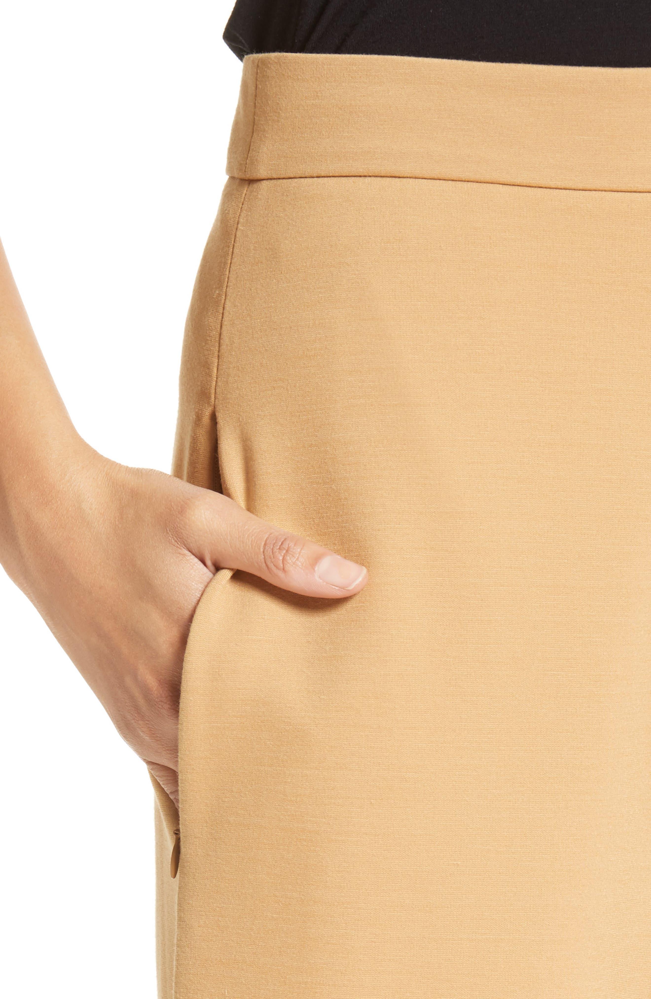 High Rise Knit Crop Wide Leg Pants,                             Alternate thumbnail 4, color,                             246